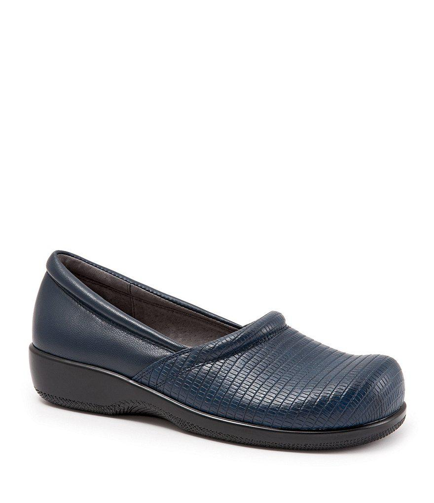SoftWalk Adora Embossed Leather Slip-Ons sCbZt1p