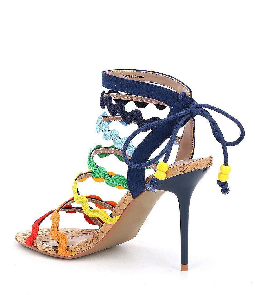 Betsey Johnson Cali Rainbow Strappy Dress Sandals xFqbs