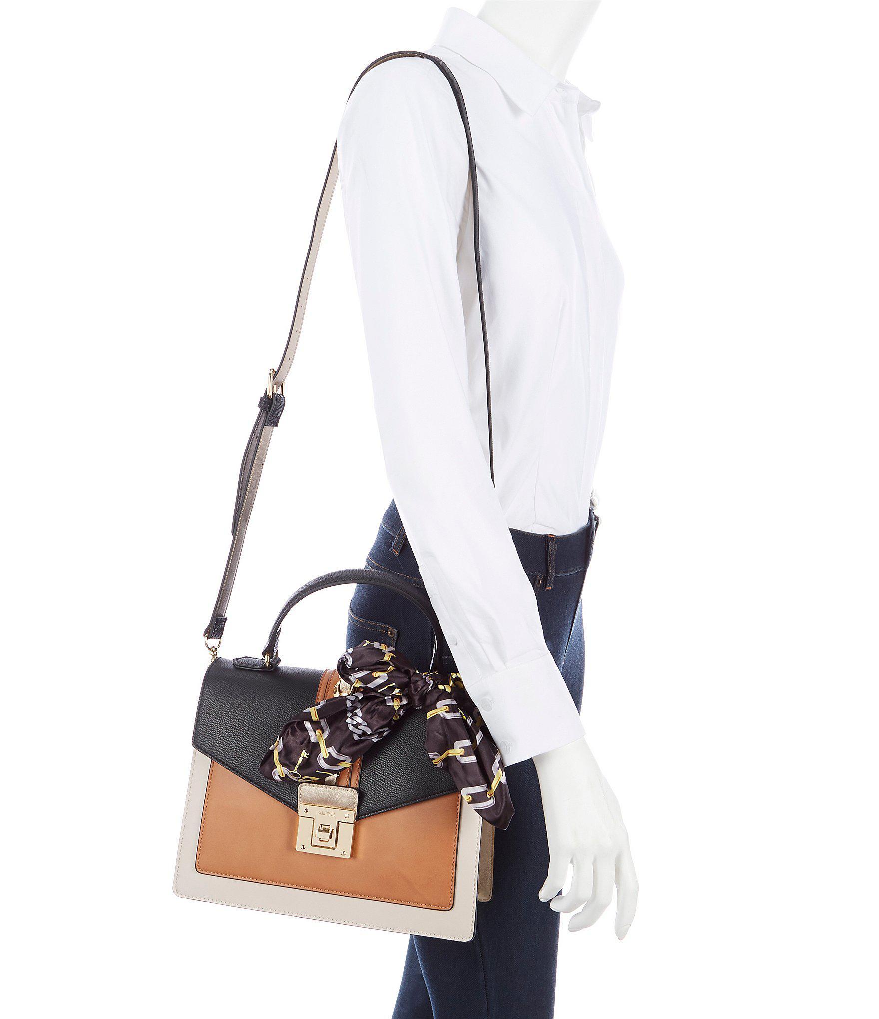 d11e1ae3c09 Lyst - ALDO Glendaa Small Top Handle Black Colorblock Handbag in Black