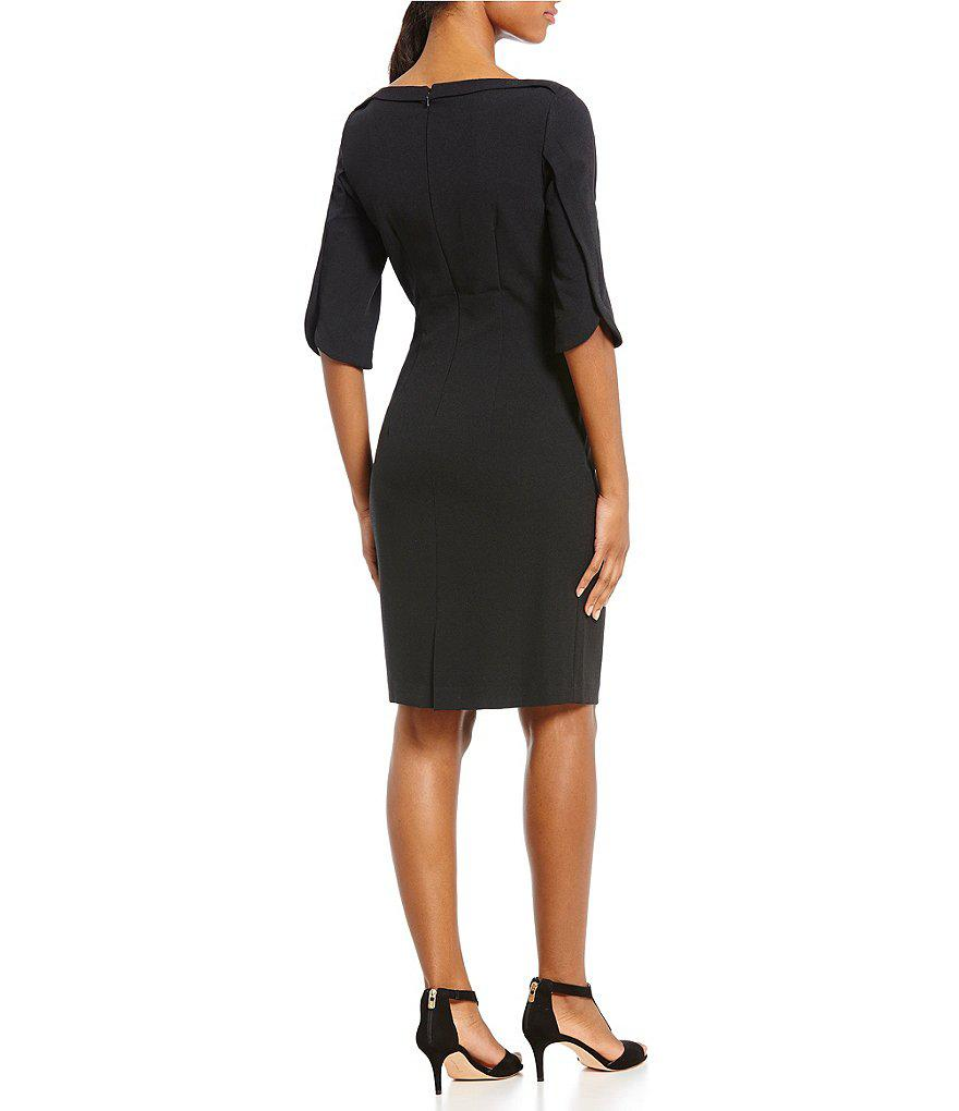 43b78398b1c Lyst - Antonio Melani Chase Crepe Dress in Black