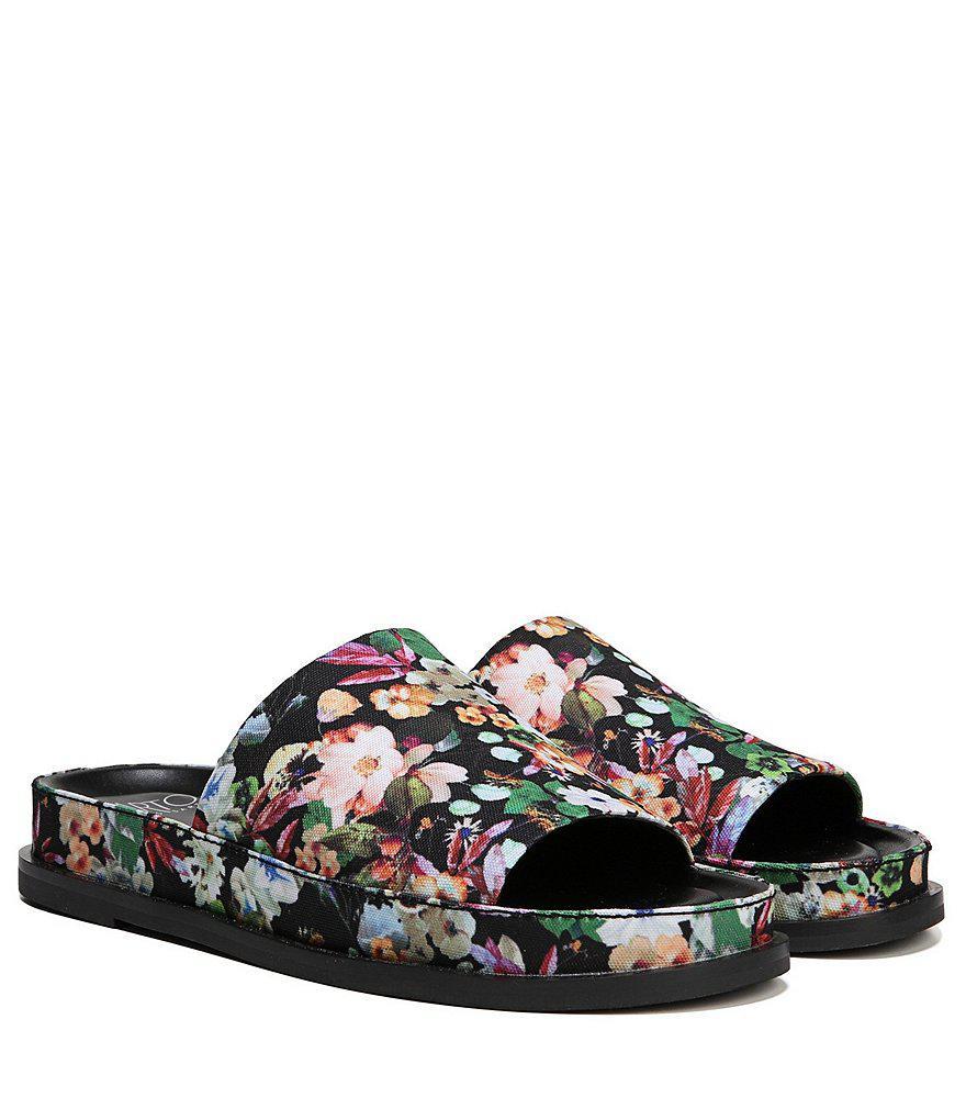 Sarto by Franco Sarto Tal Floral Fabric Slides 1MAhOc