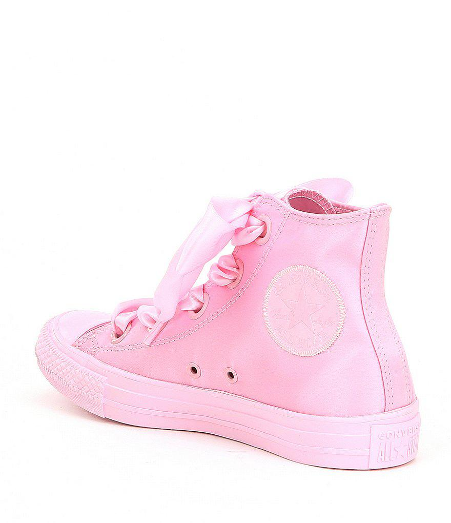 Big Eyelets Satin High Top Sneakers eVyB2h