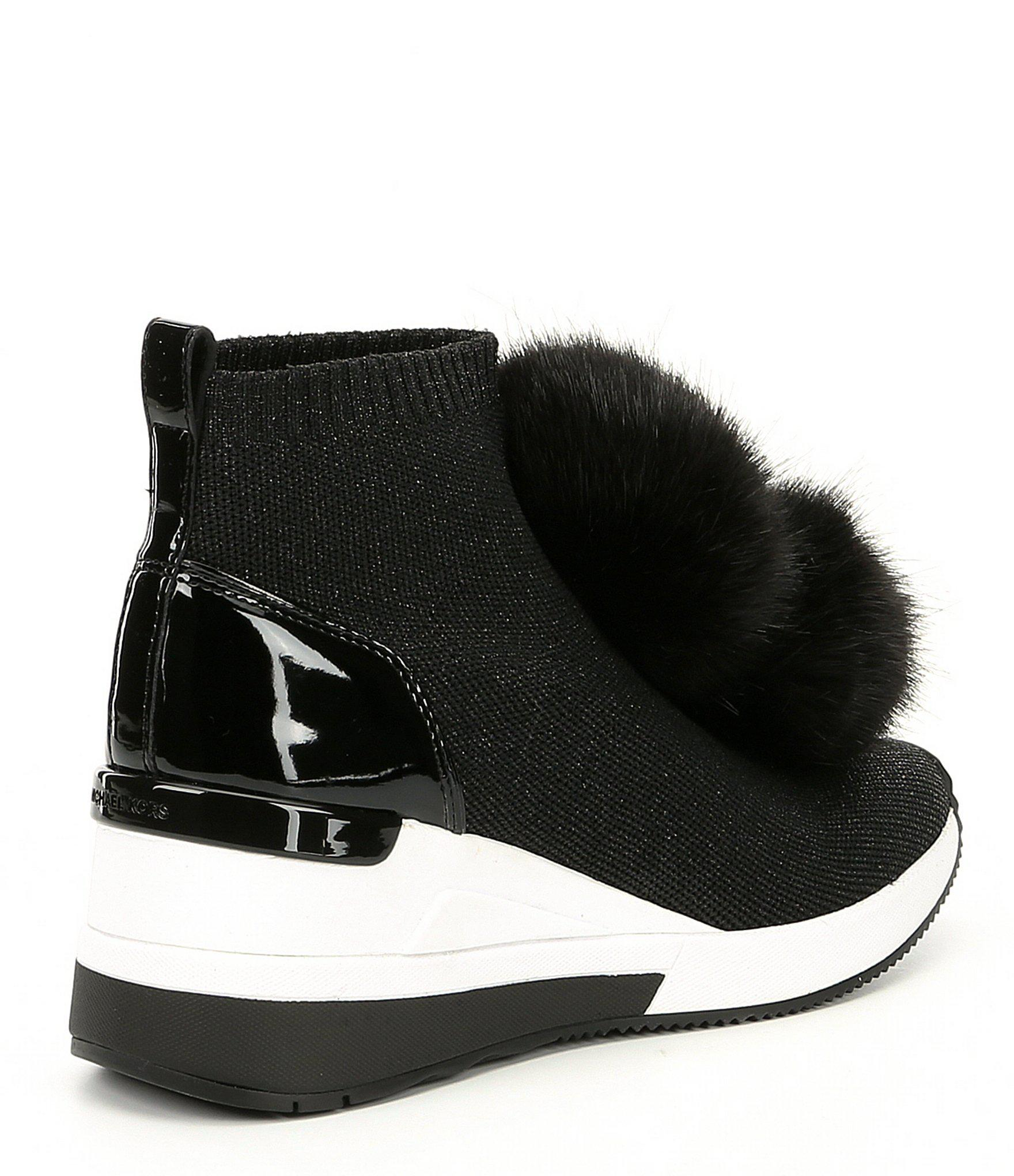 9643a2a269b Lyst - MICHAEL Michael Kors Skyler Wedge Sneaker Booties in Black