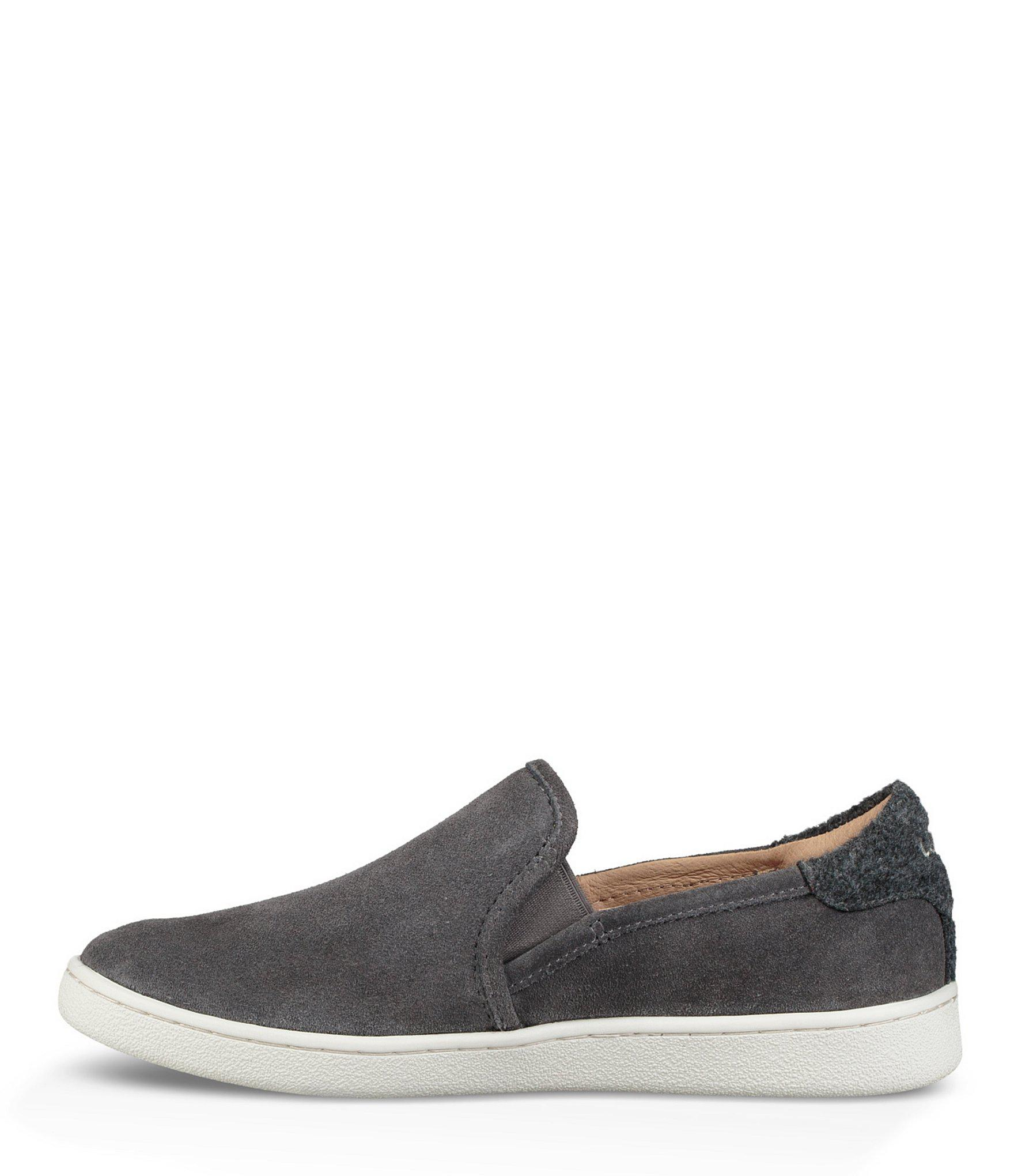ae723305e5f UGG Cas Suede Slip On Sneakers in Gray - Lyst