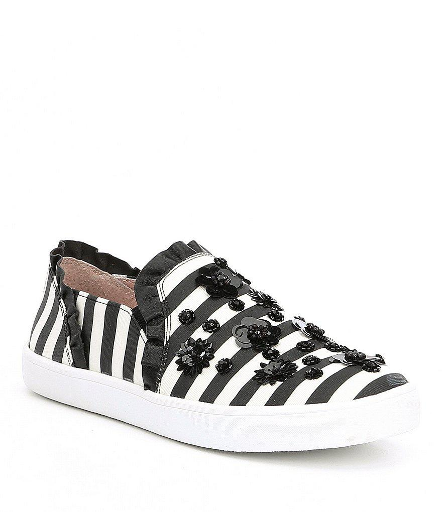 Louise Stripe Floral Embellishment Sneakers