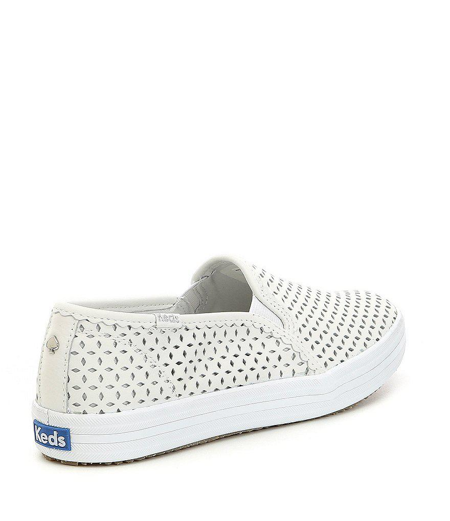 keds x kate spade new york Double Decker Laser Perforated Eyelet Sneakers r5O9YFY7D