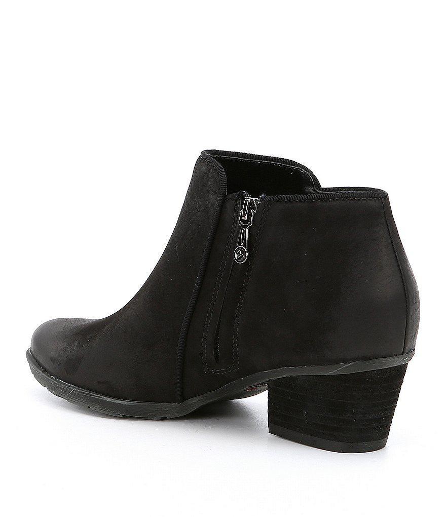 Waterproof Villa Leather Block Heel Booties xxAUw9