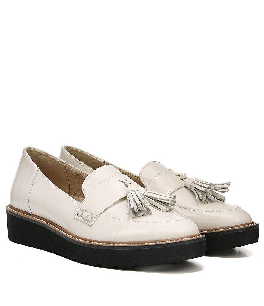 August Patent Leather Tassel Detail Slip-Ons BbH4Q0N