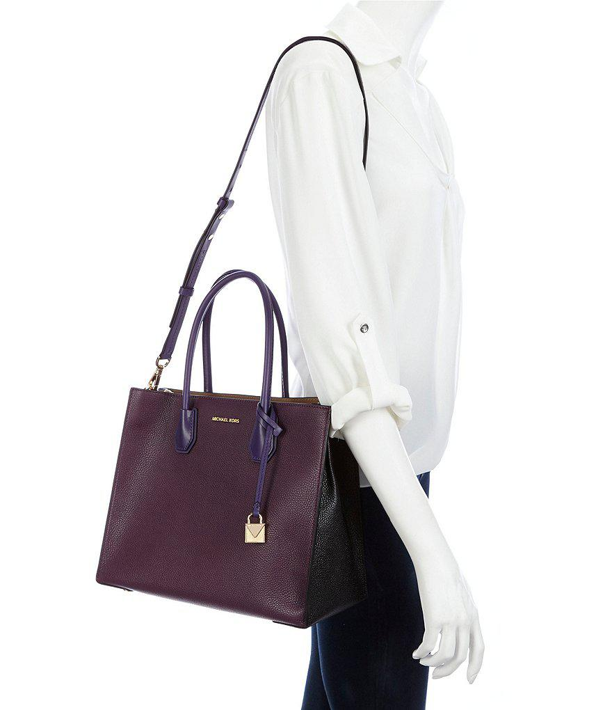 5613e6ebe4a7 MICHAEL Michael Kors Studio Mercer Large Tote in Purple - Lyst