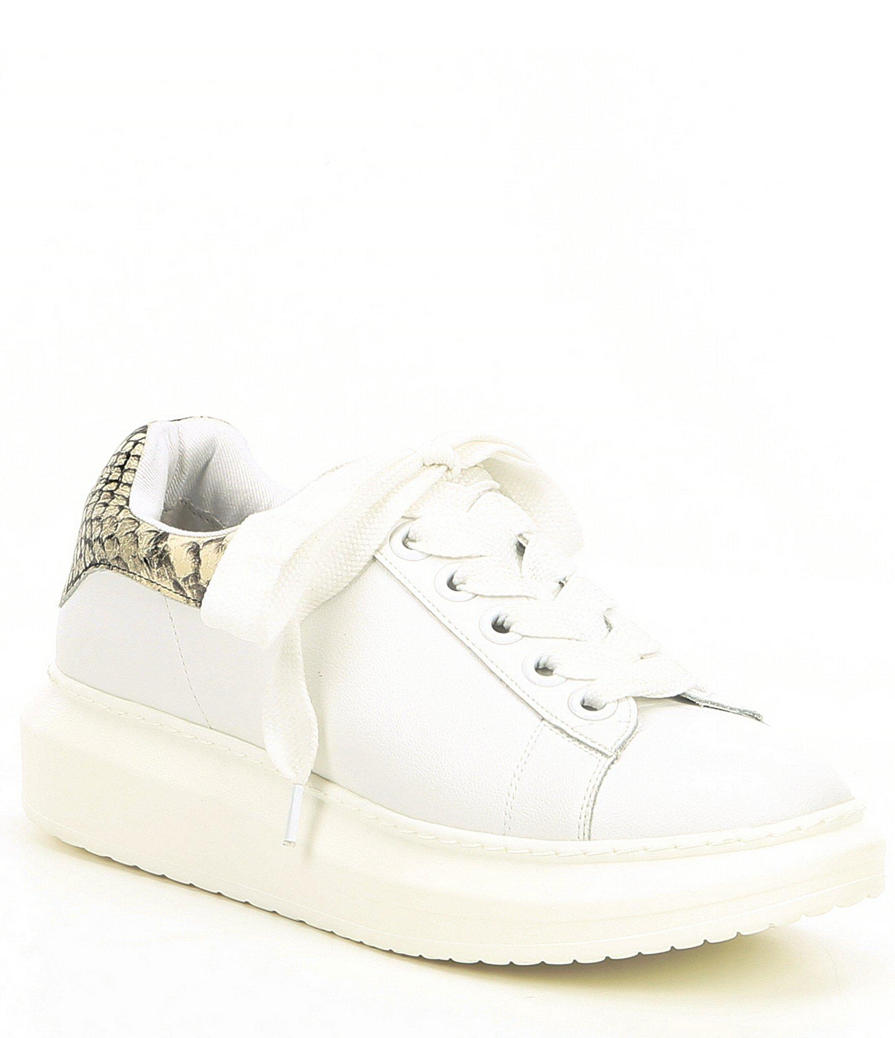 b07fb3cfd Steve Madden Steven By Snake Print & Glazed Leather Chunky Sneakers ...