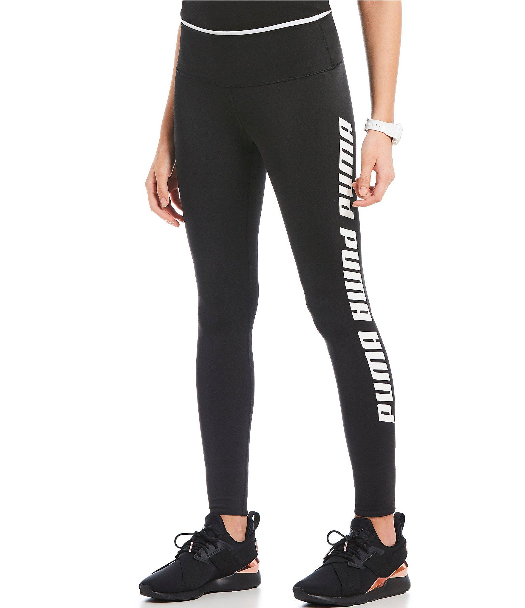 76858556c1904c PUMA - Black Modern Sports Fold Up Legging - Lyst. View fullscreen