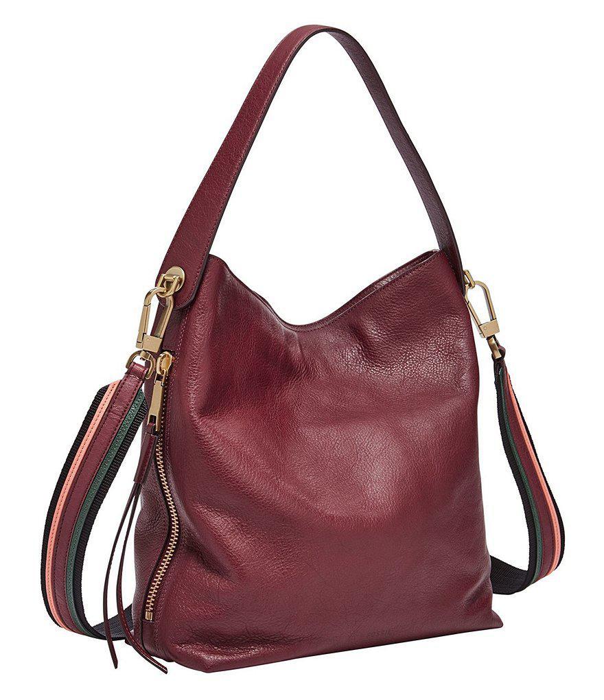 c8dd455afd Lyst - Fossil Maya Small Hobo Bag in Purple