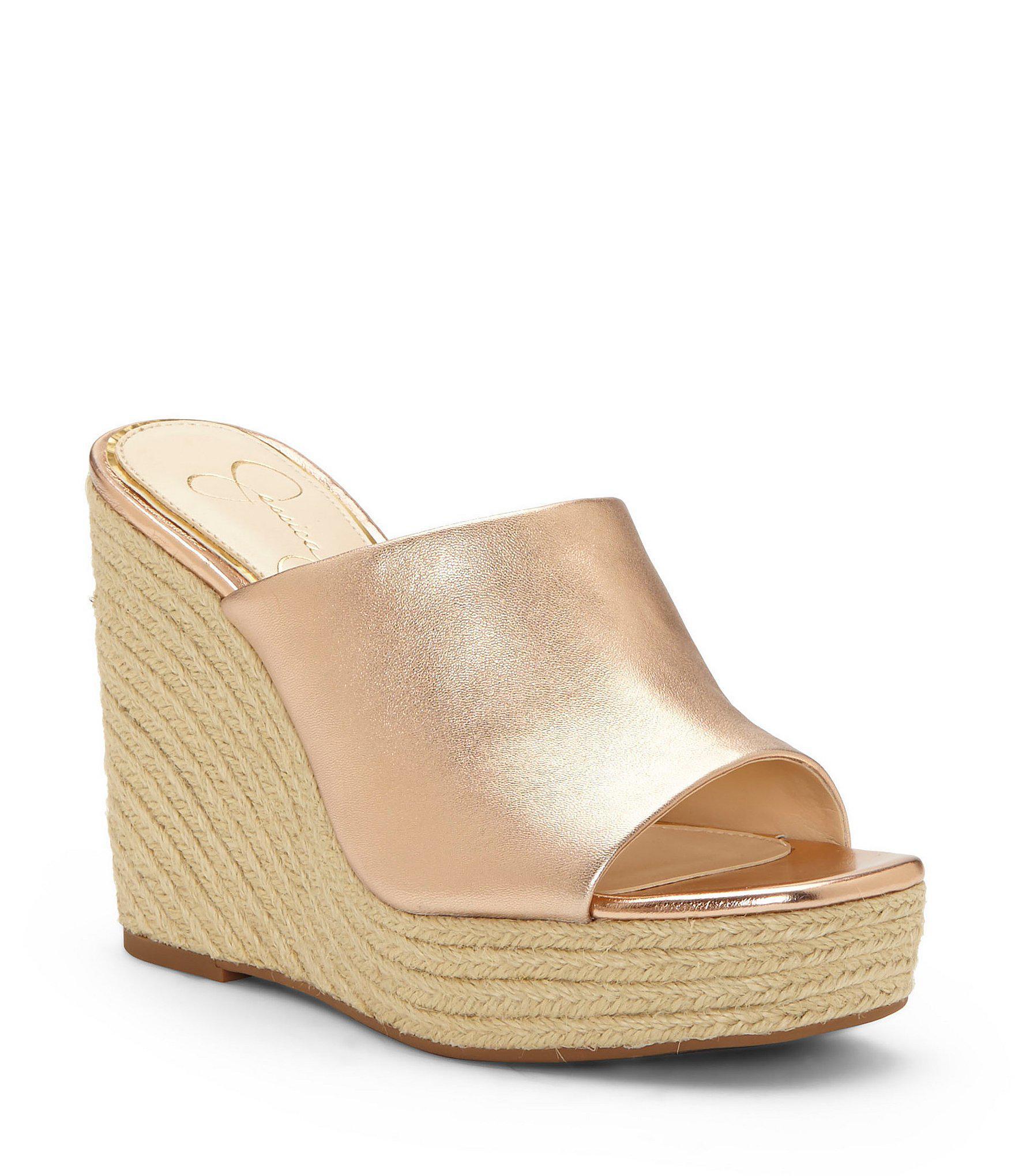 051835f584bb Lyst - Jessica Simpson Sirella Espadrille Wedge Sandals
