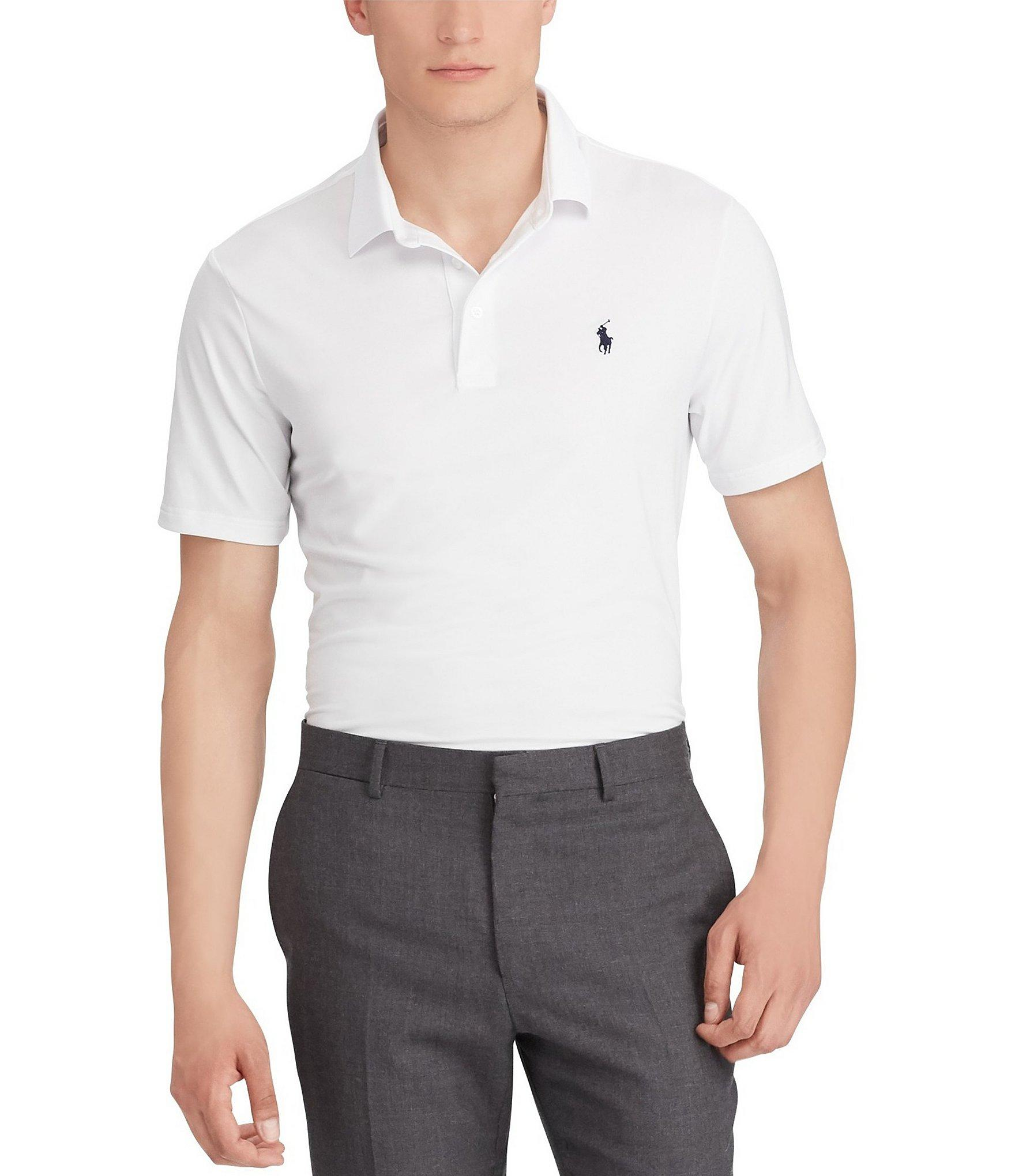 6d3a582d9 Polo Ralph Lauren. Men's White Big & Tall Performance Jersey Short-sleeve  Polo Shirt