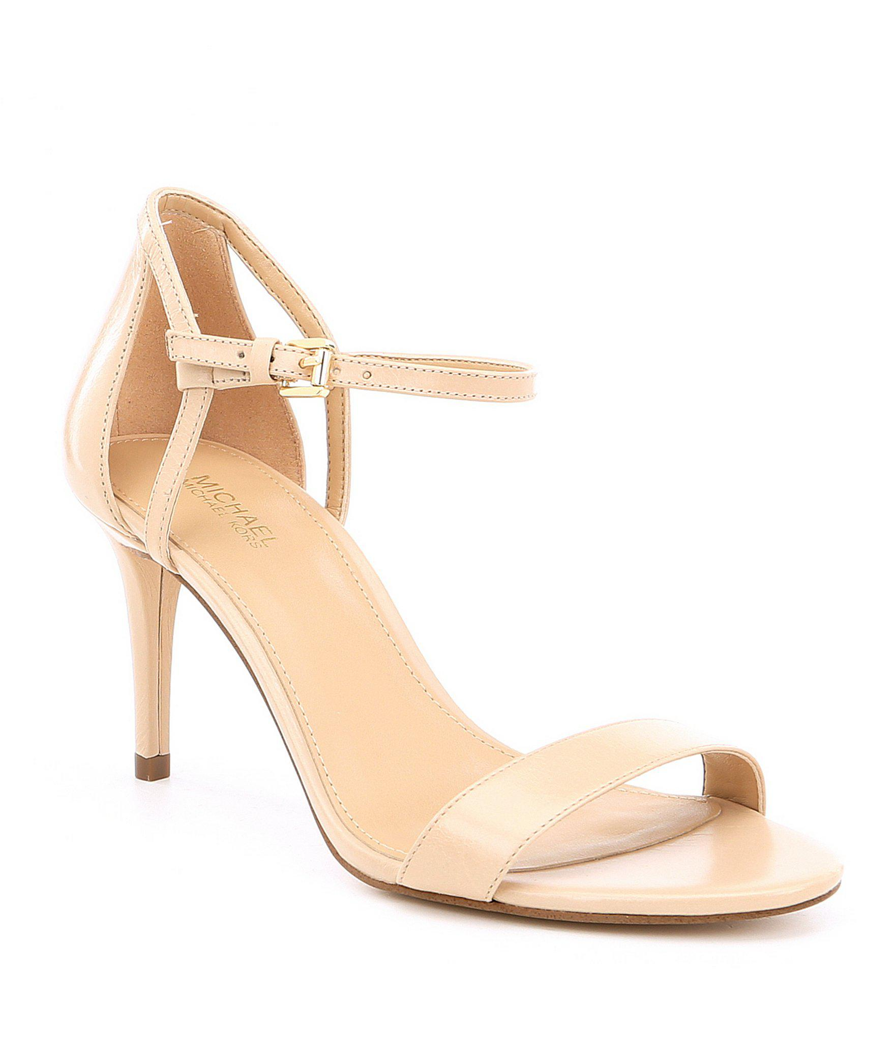 f944ca97699b MICHAEL Michael Kors Simone Mid Dress Sandals in Natural - Lyst