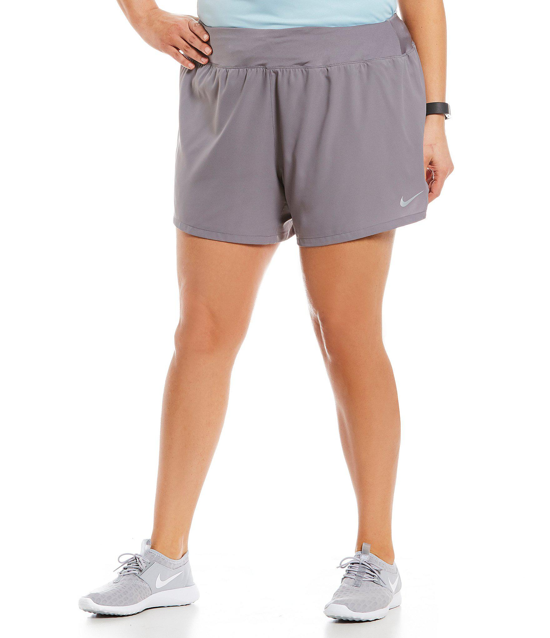 84d6e3c69fe4 Lyst - Nike Flex Running Shorts in Gray