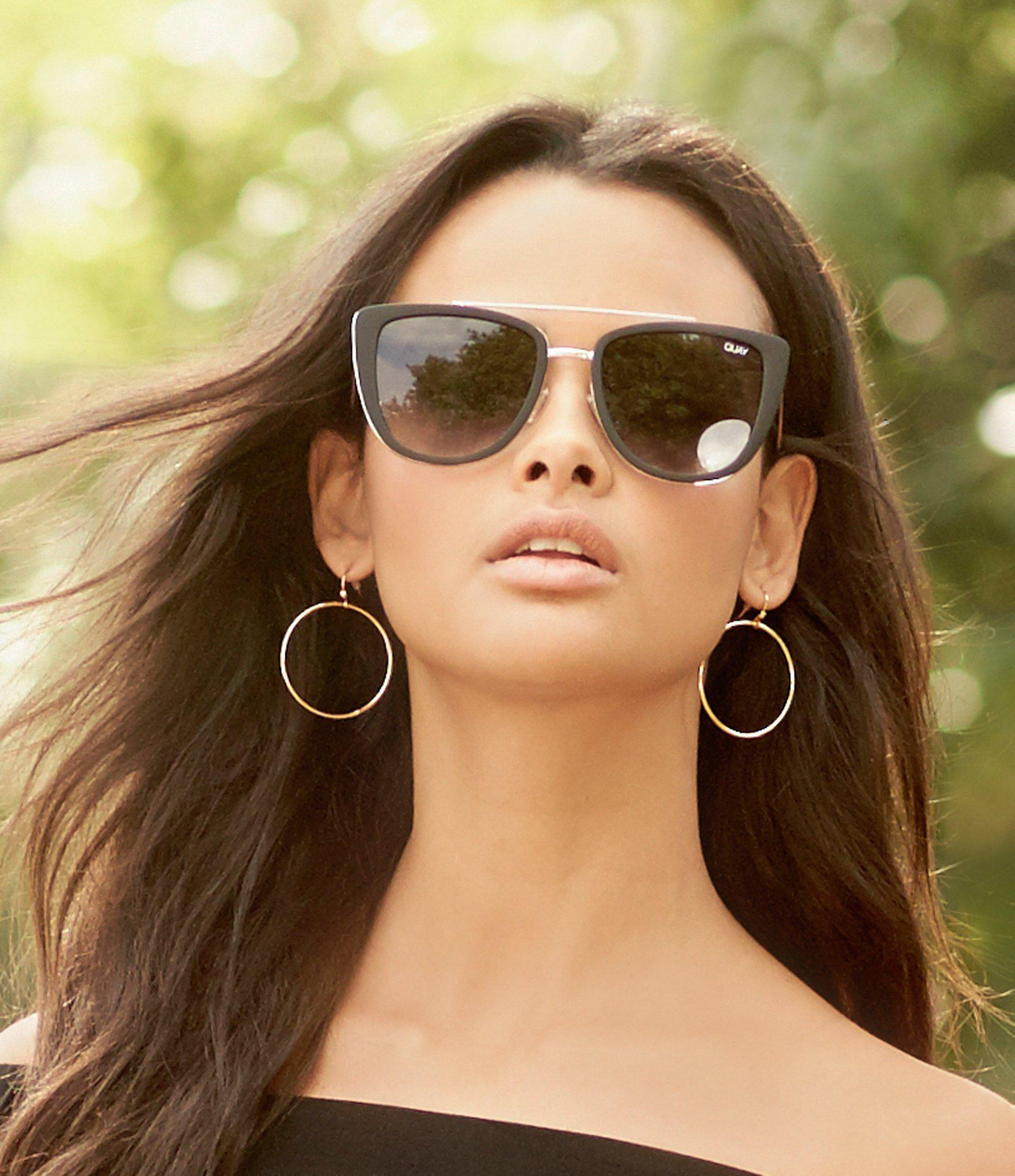 0faec1ec101 Quay - Black French Kiss Cat-eye Sunglasses - Lyst. View fullscreen