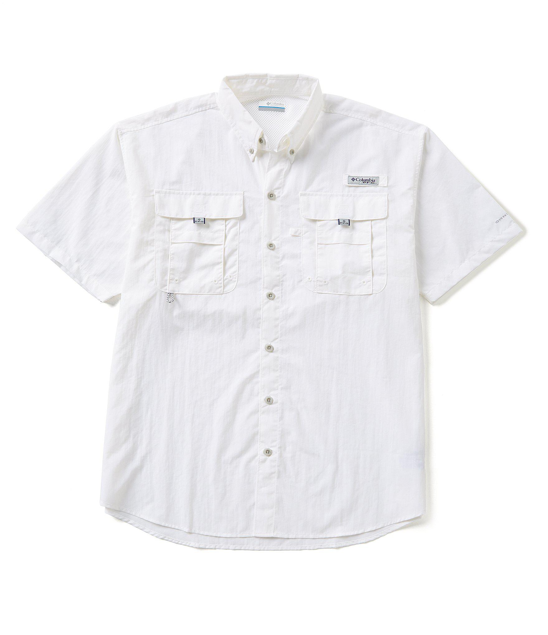 366505fb28f Lyst - Columbia Pfg Bahama Ii Solid Short-sleeve Shirt in White for Men
