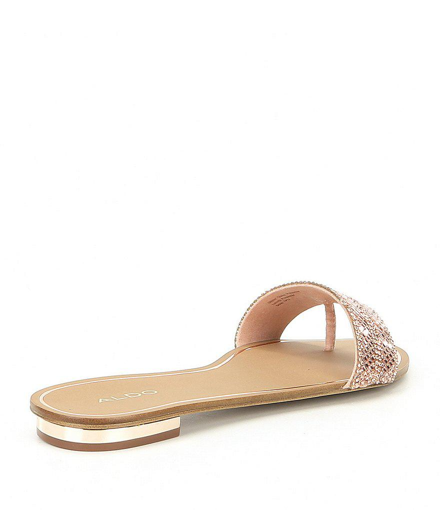 ALDO Cadilinna Embellished Thong Slide Sandals 93VbvTm