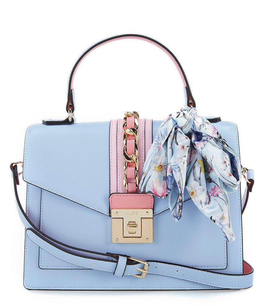 f35e36e2988 Lyst - ALDO Glendaa Small Top Handle Handbag in Blue