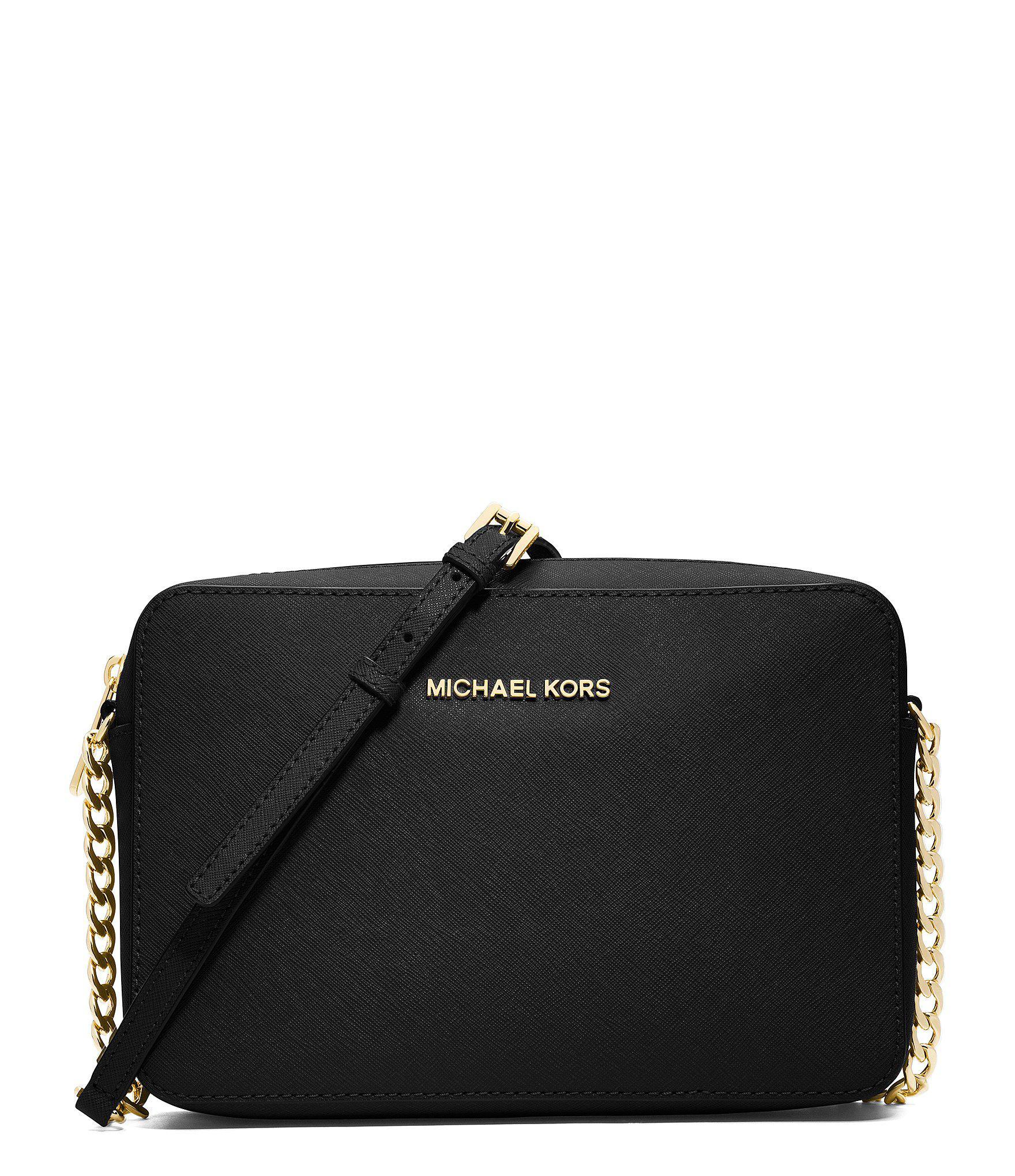 MICHAEL Michael Kors. Women s Black Jet Set Large Saffiano Leather Crossbody e937b17560e21