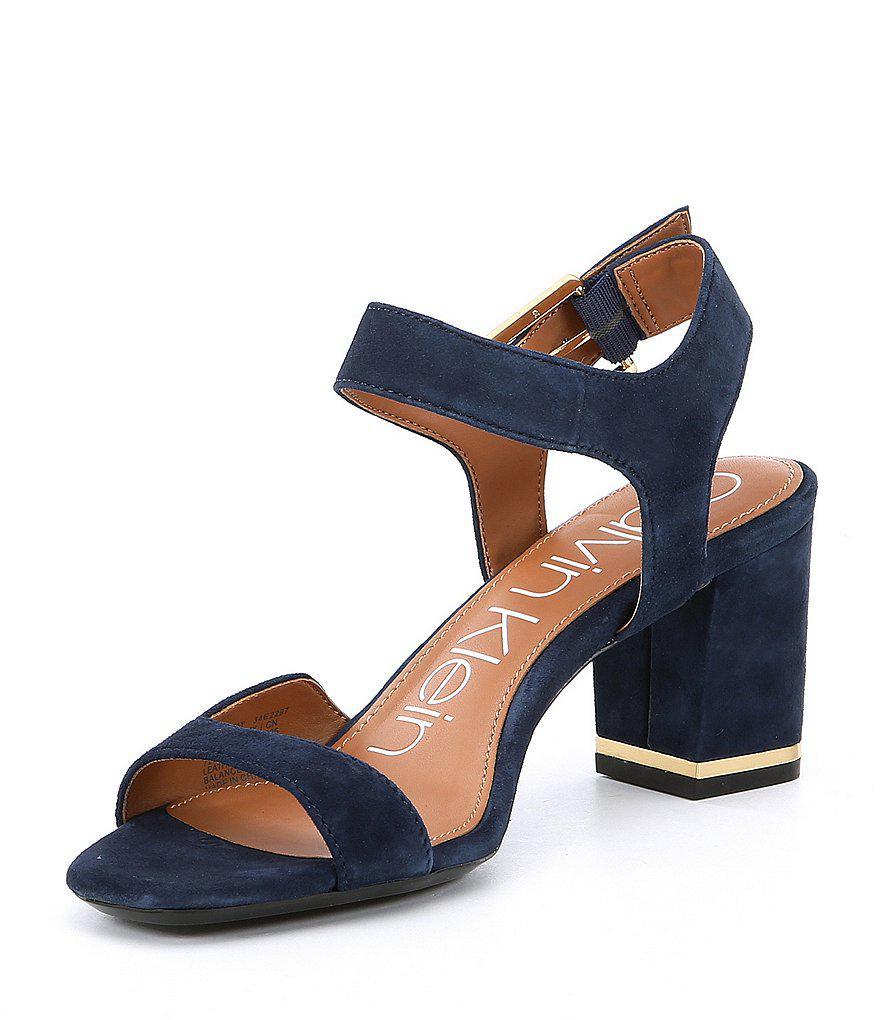 Chantay Suede Block Heel Dress Sandals WFoecl34