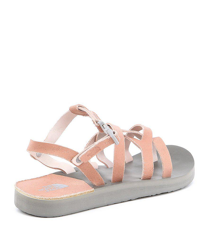 1422fcf53be2 Lyst - The North Face Women s Base Camp Plus Asym Ii Sandals in Pink