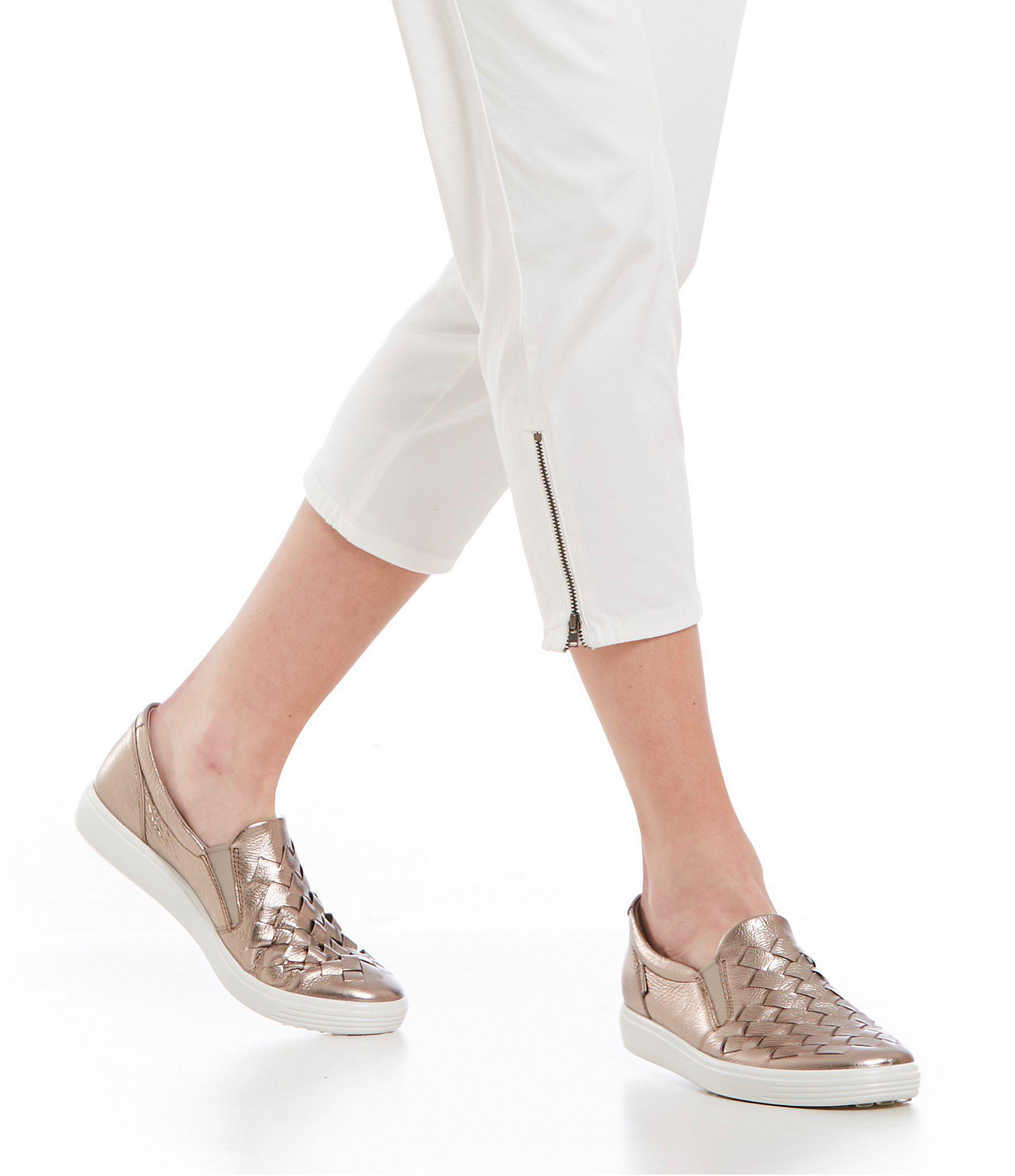 6bea88c4dcfb Ecco - Black Women s Soft 7 Woven Slip-on Sneakers - Lyst. View fullscreen
