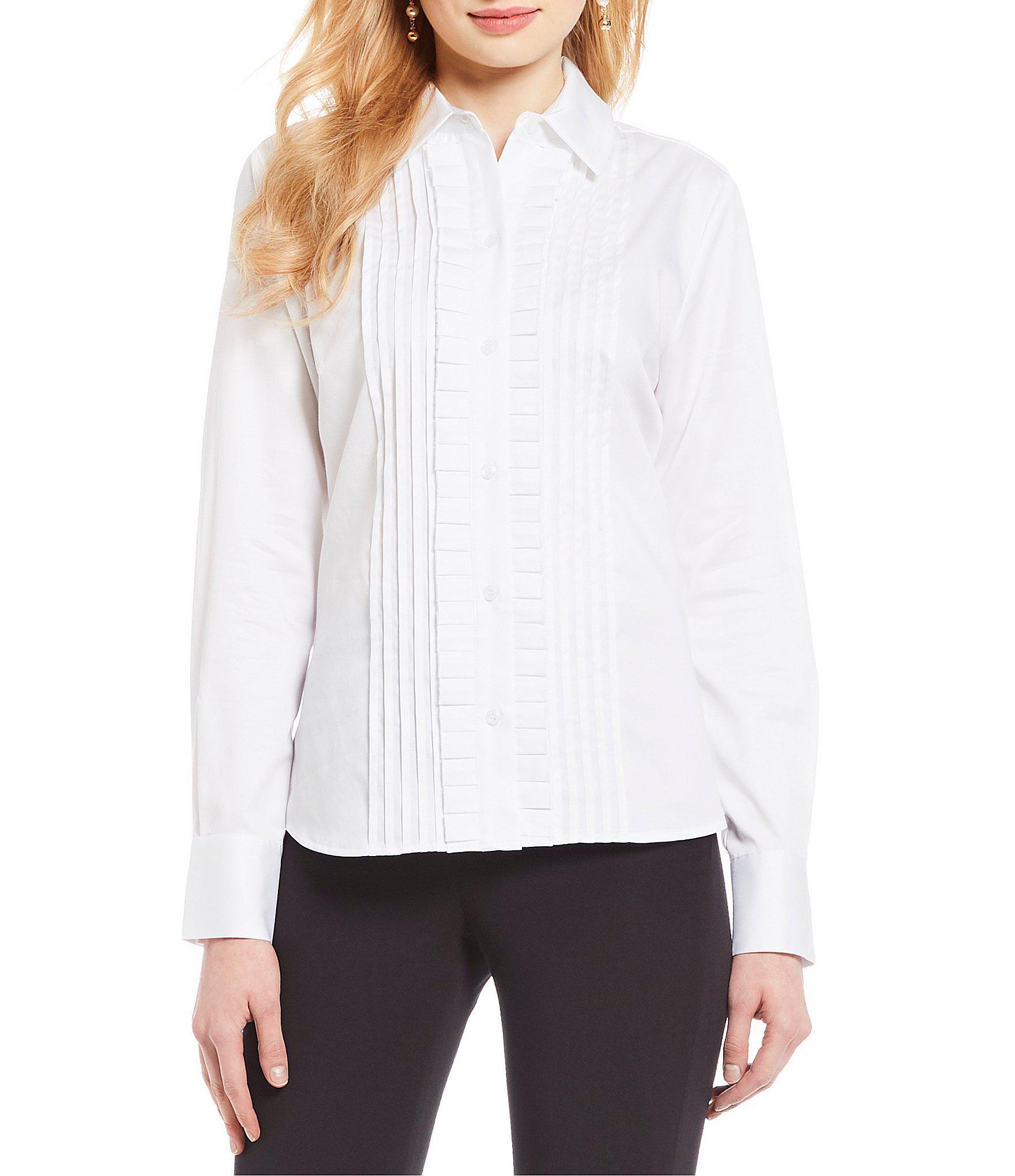a1c686d2f5f2f9 Lyst - Antonio Melani Nellie Tuxedo Blouse in White