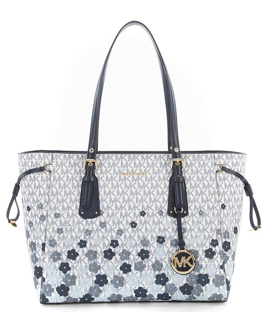 41b86d2a9ef9 MICHAEL Michael Kors Voyager Signature Floral Multifunction Tote in ...