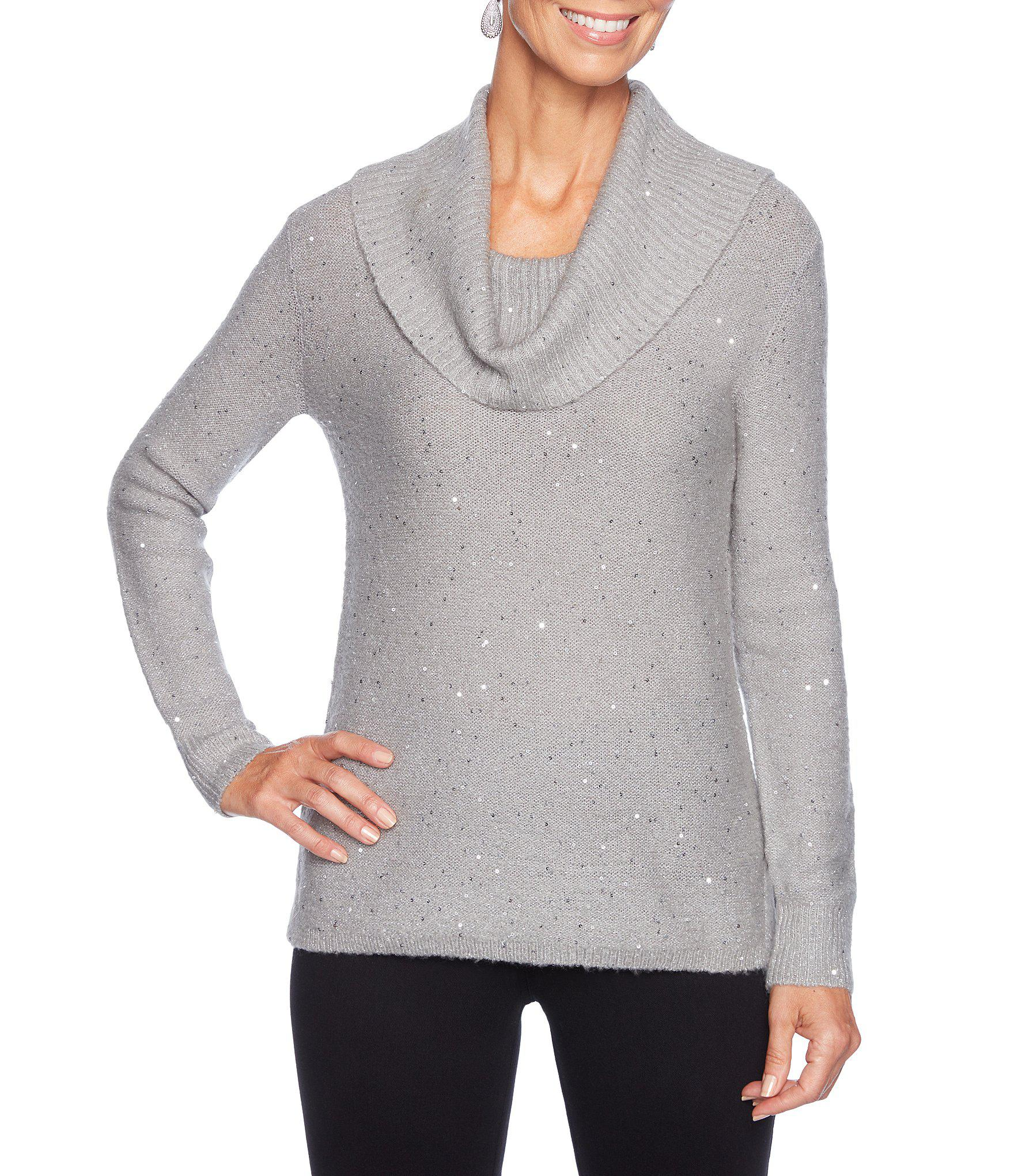 a64eac0828903 Lyst - Ruby Rd. Petite Size Cowl Neck Cozy Sequin Stretch Sweater ...