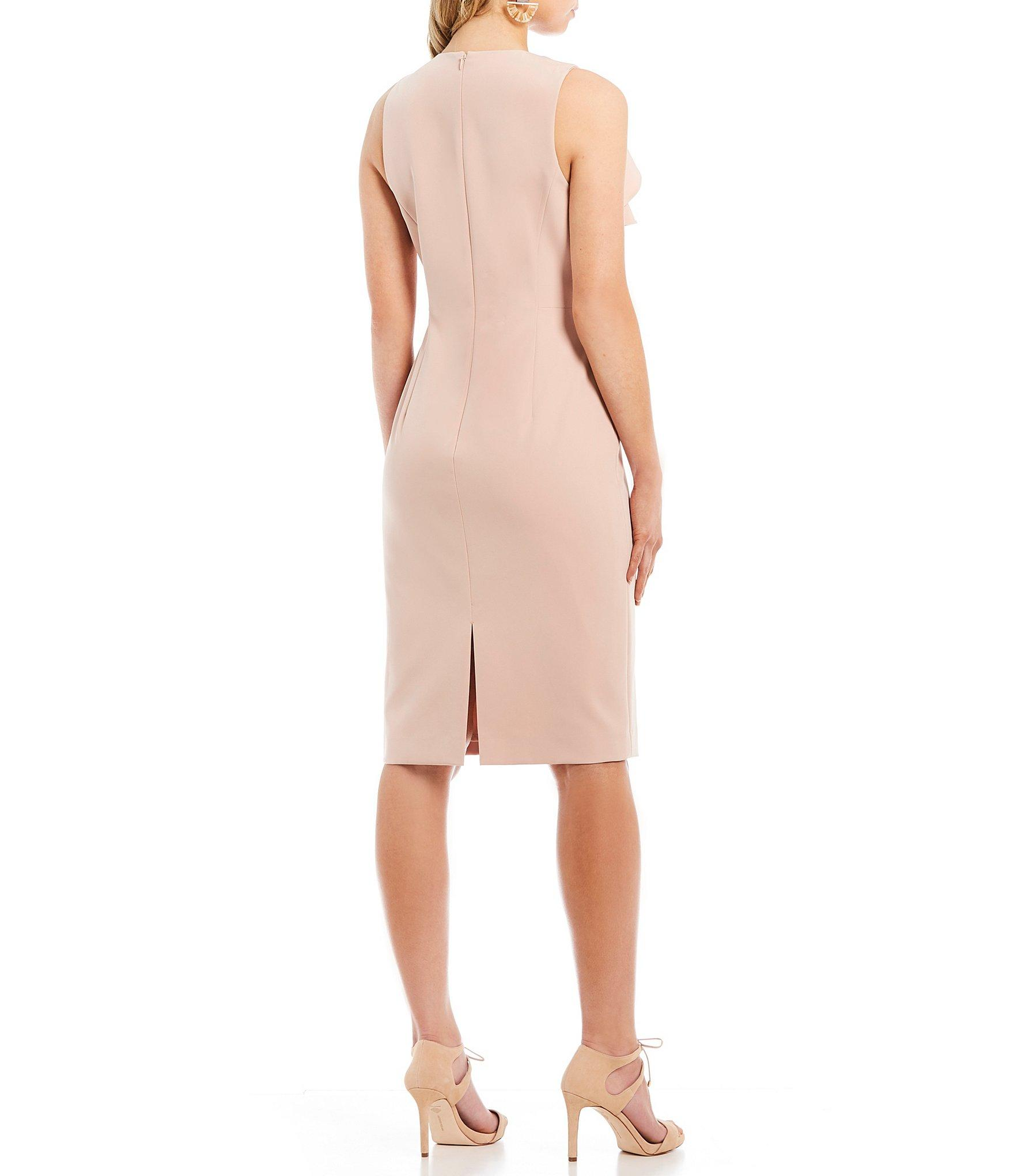 0d69e8da7a9 Antonio Melani - Pink Dean Ruffle Sheath Dress - Lyst. View fullscreen