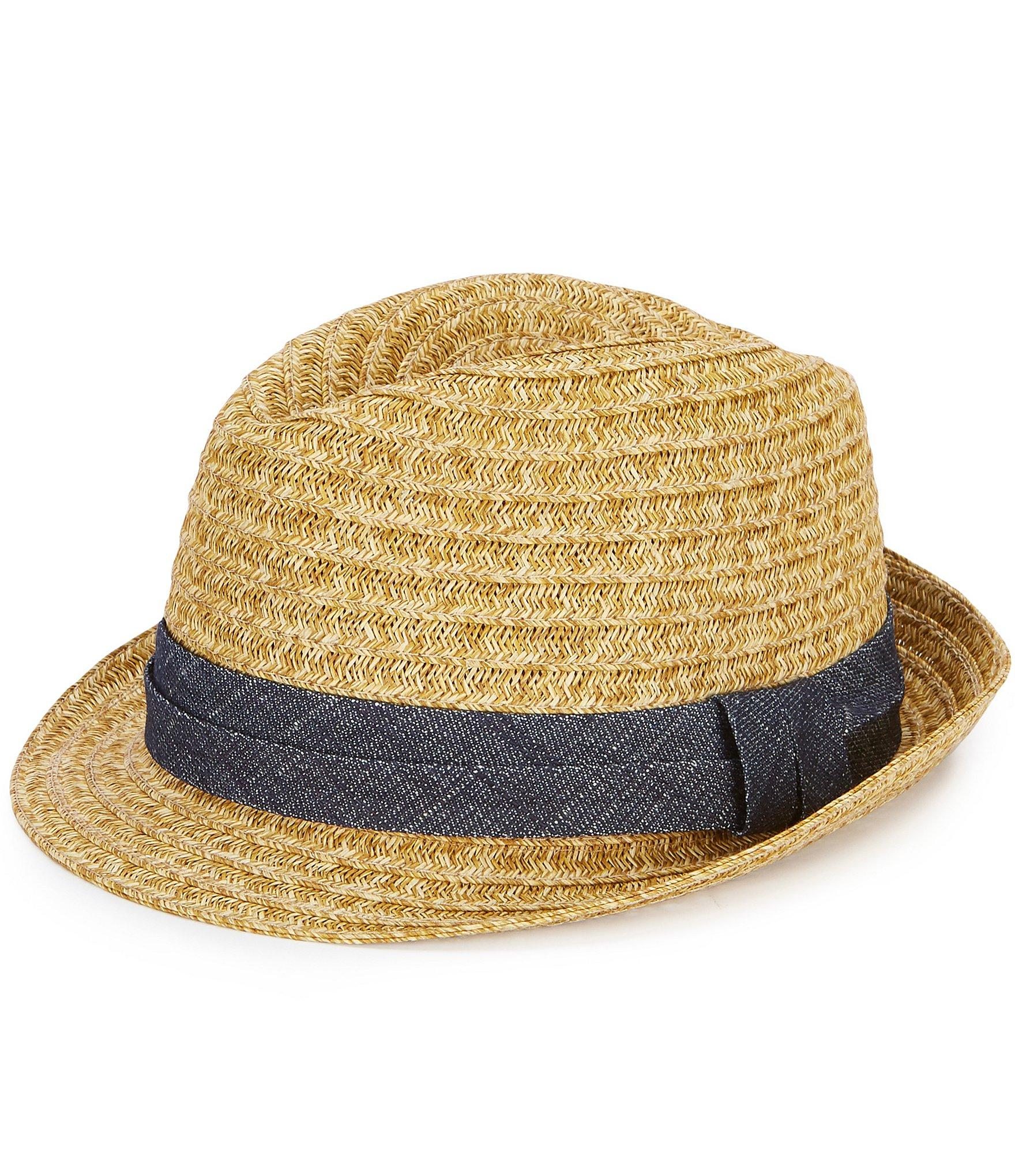 66a35c759 Lyst - Cremieux Straw Fedora in Natural for Men