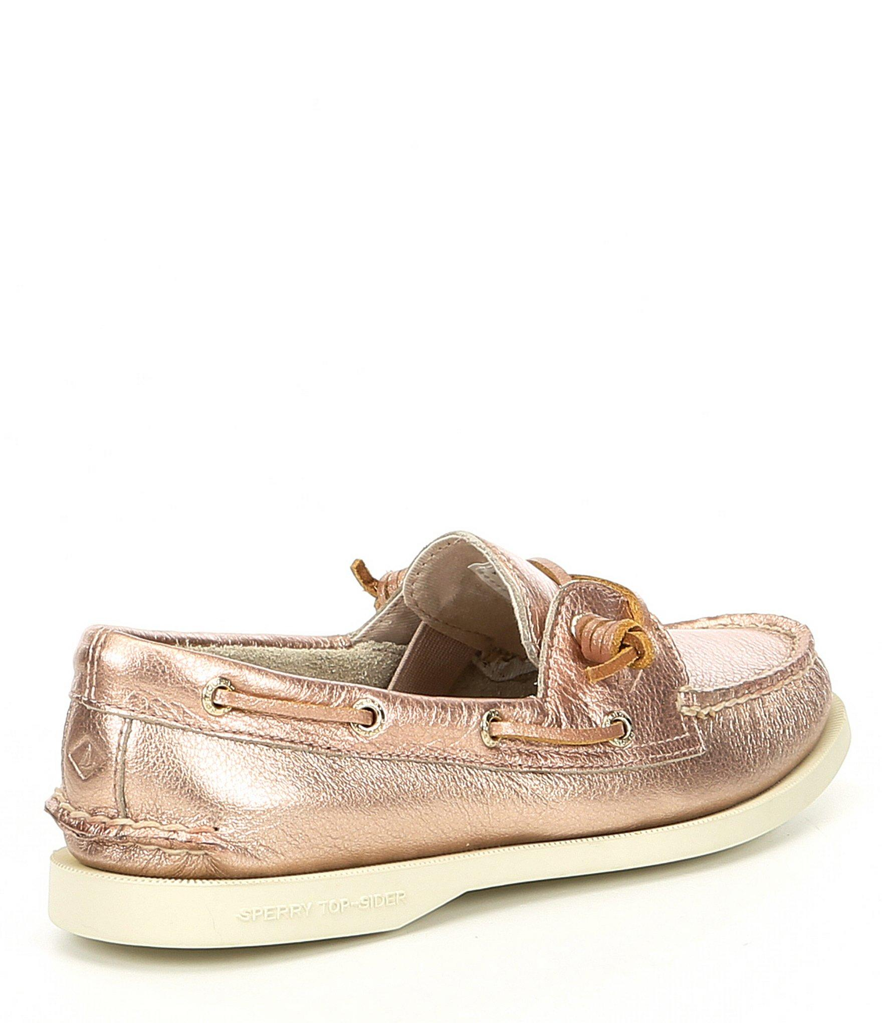 393e6c5e6f32 Sperry Top-Sider - Authentic Original Vida Metallic Leather Boat Shoes -  Lyst. View fullscreen