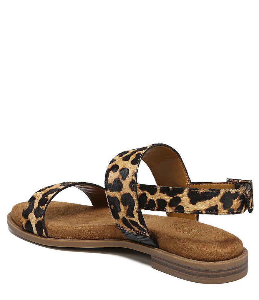 Franco Sarto Velocity 2 Leopard Print Brahma Calf Hair Sandals 1xY1h9B2