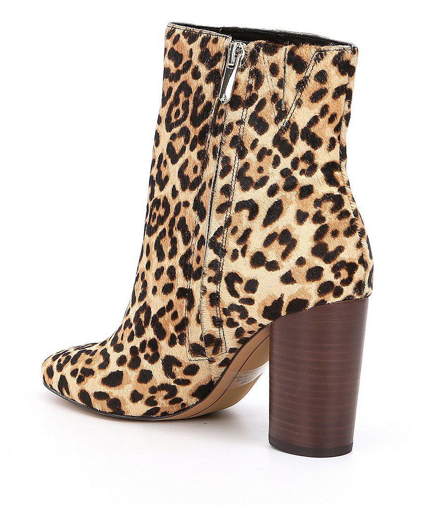 9c1e9bbf6 Lyst - Sam Edelman Corra Leopard Booties in Brown