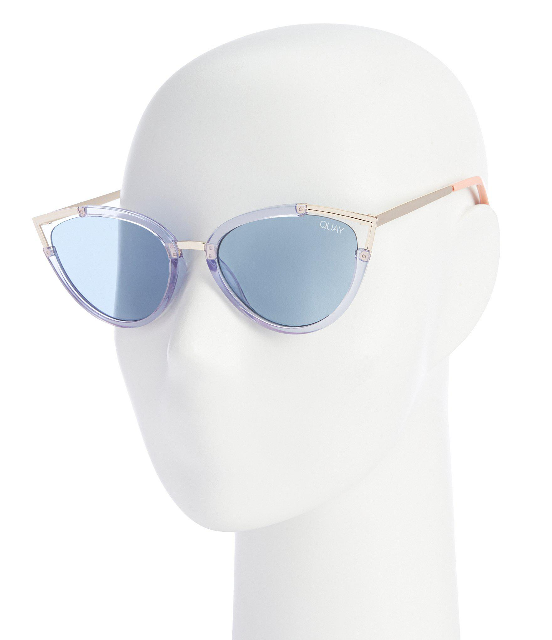 ccd5aa319e Quay Hearsay Sunglasses in Blue - Lyst