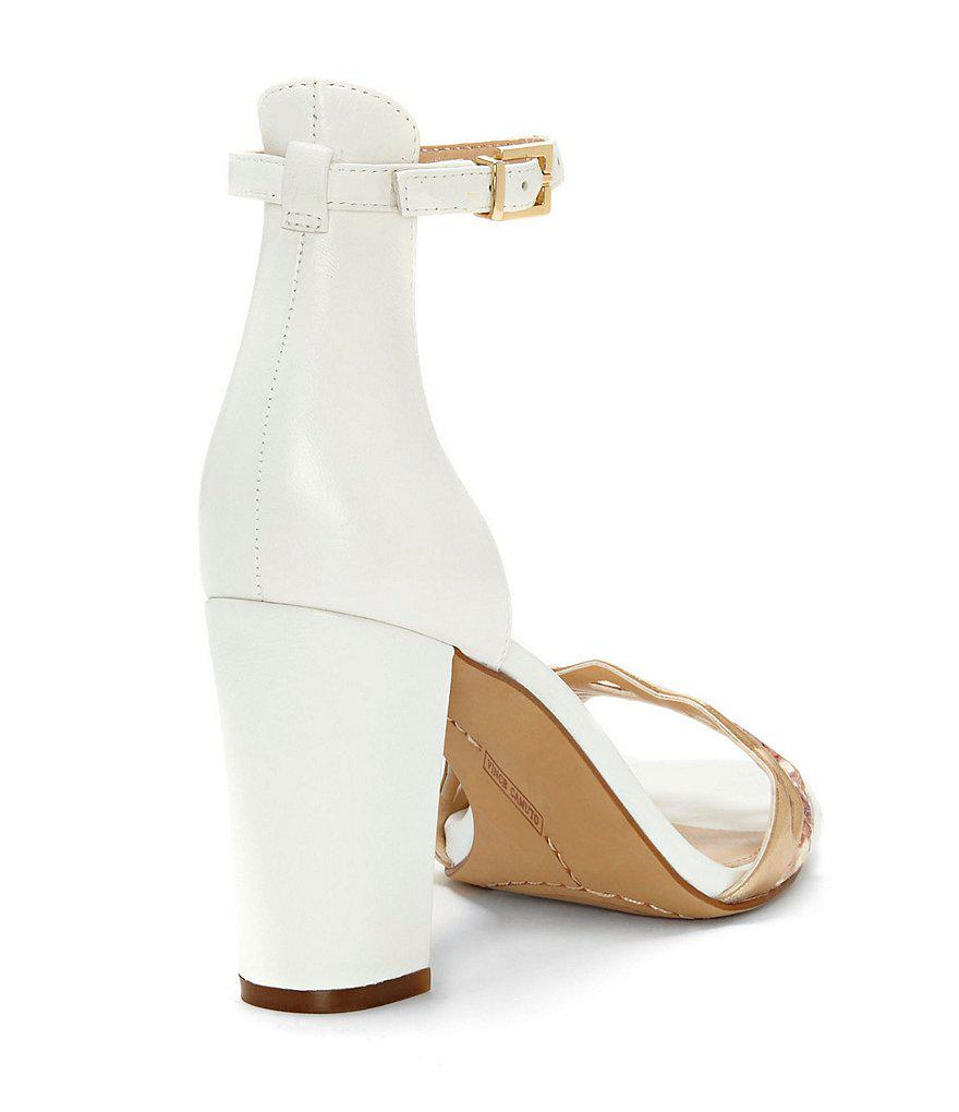 Caveena Metallic Colorblock Ankle Strap Block Heel Dress Sandals gItiF6uz