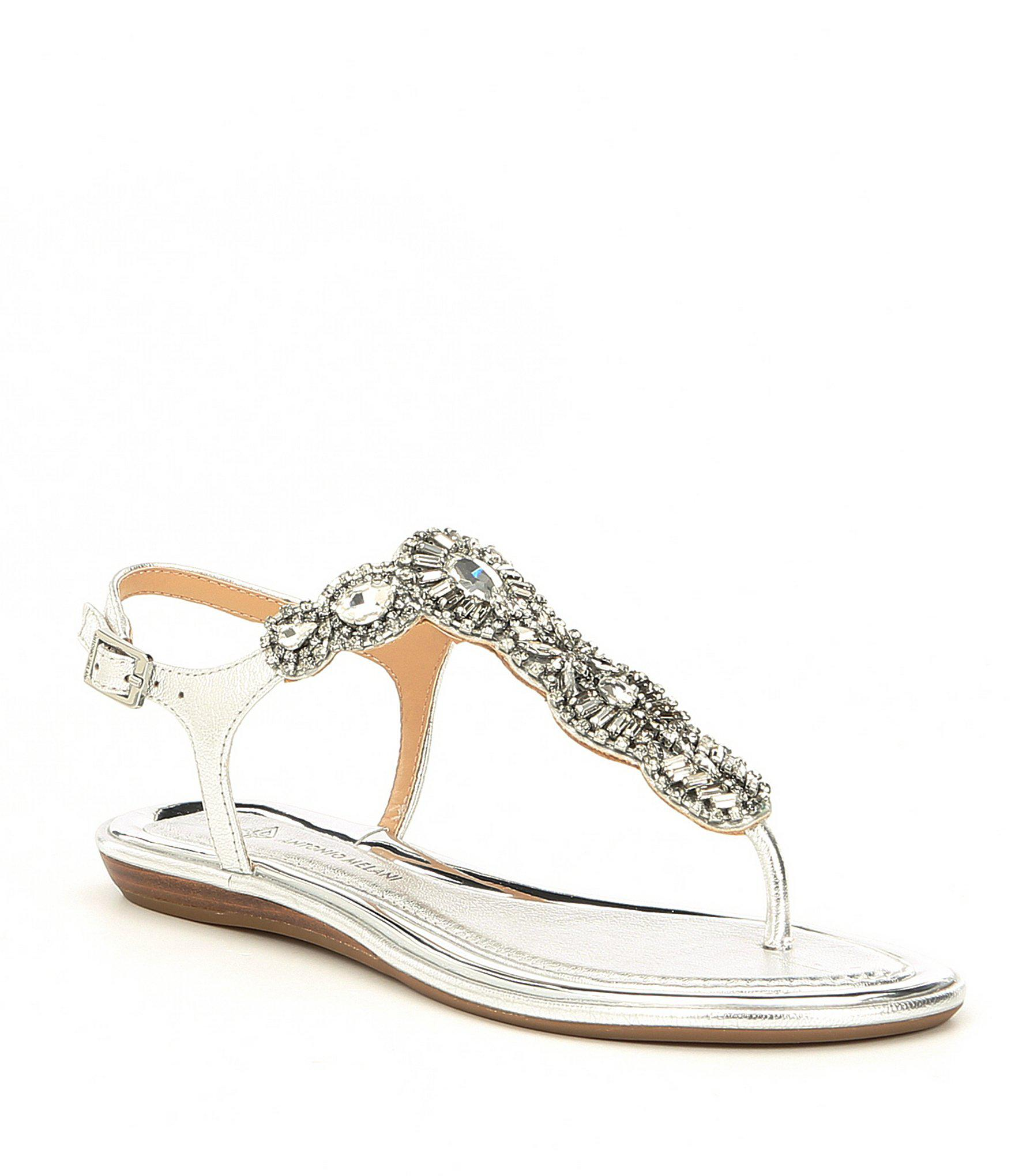7865f8ded983 Lyst - Antonio Melani Santine Rhinestone Embellished Thong Sandals ...