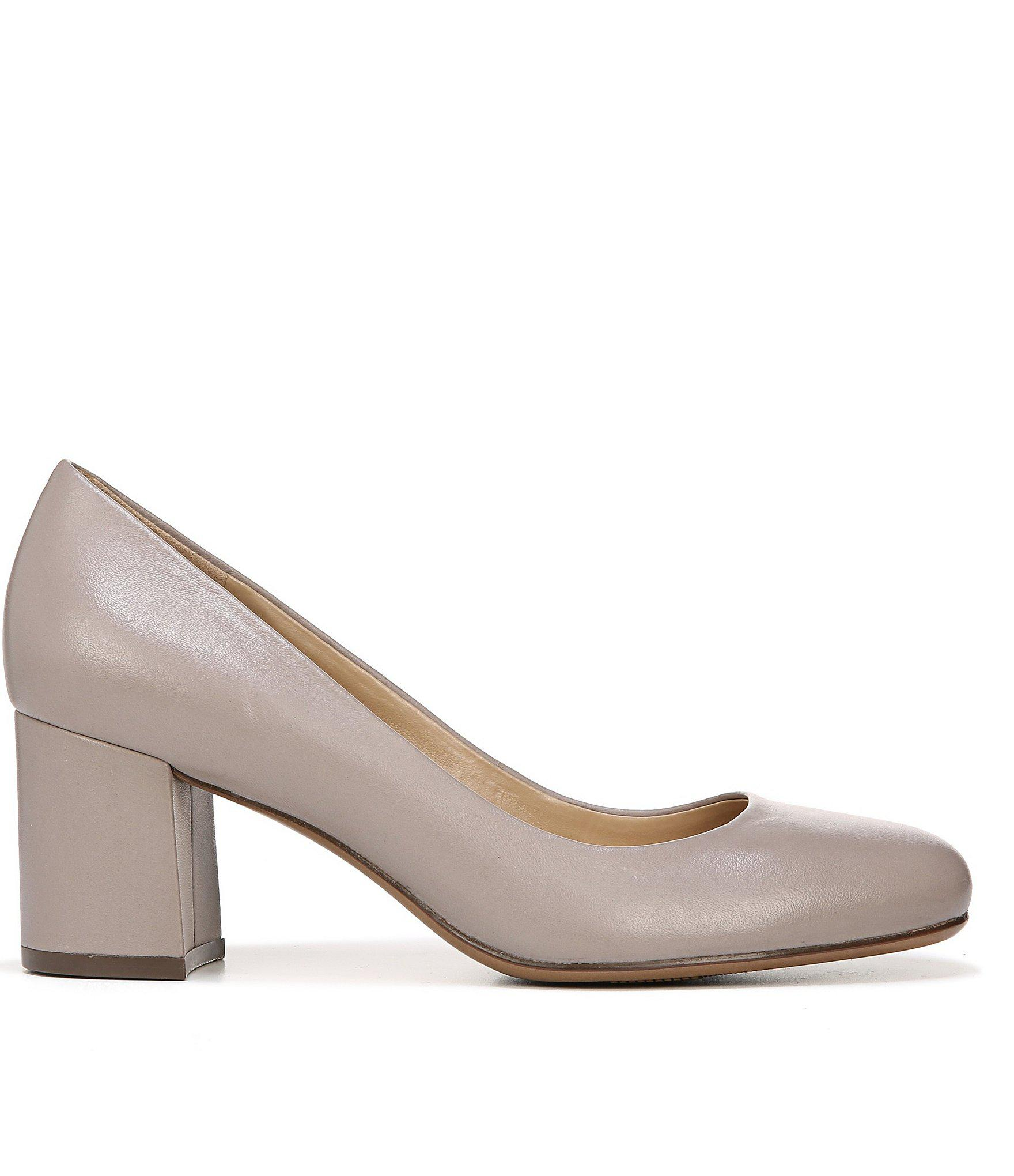 3ad763bf2e Naturalizer - Multicolor Whitney Leather Slip-on Block Heel Pumps - Lyst.  View fullscreen