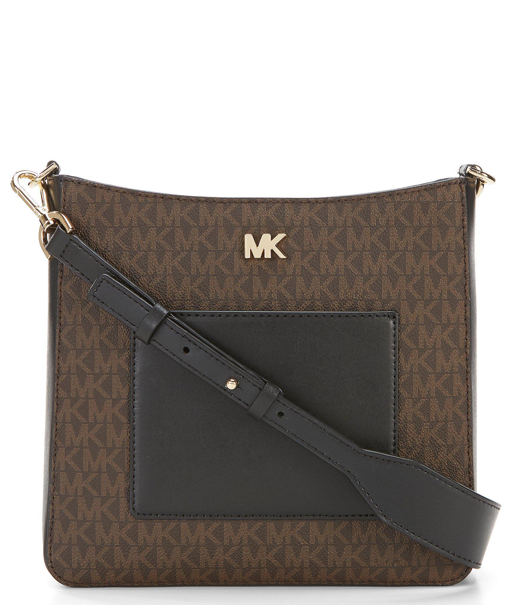 81128e7bd0d7 Lyst - Michael Michael Kors Gloria Pocket Colorblock Cross-body Bag