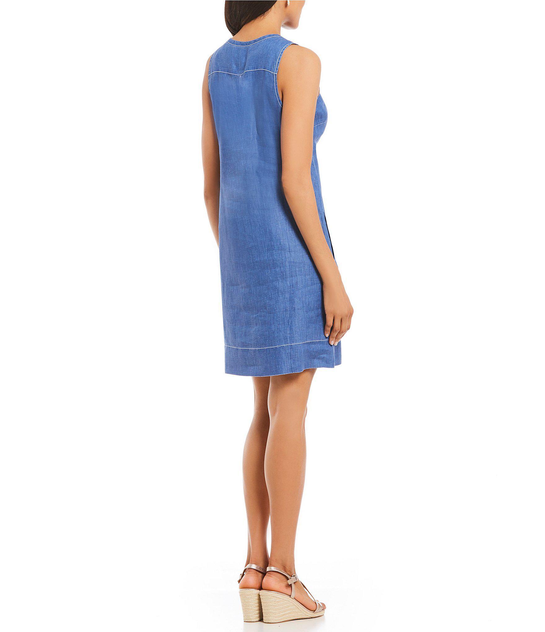 1c10c20688b Tommy Bahama - Blue Sea Glass Linen Shift Dress - Lyst. View fullscreen