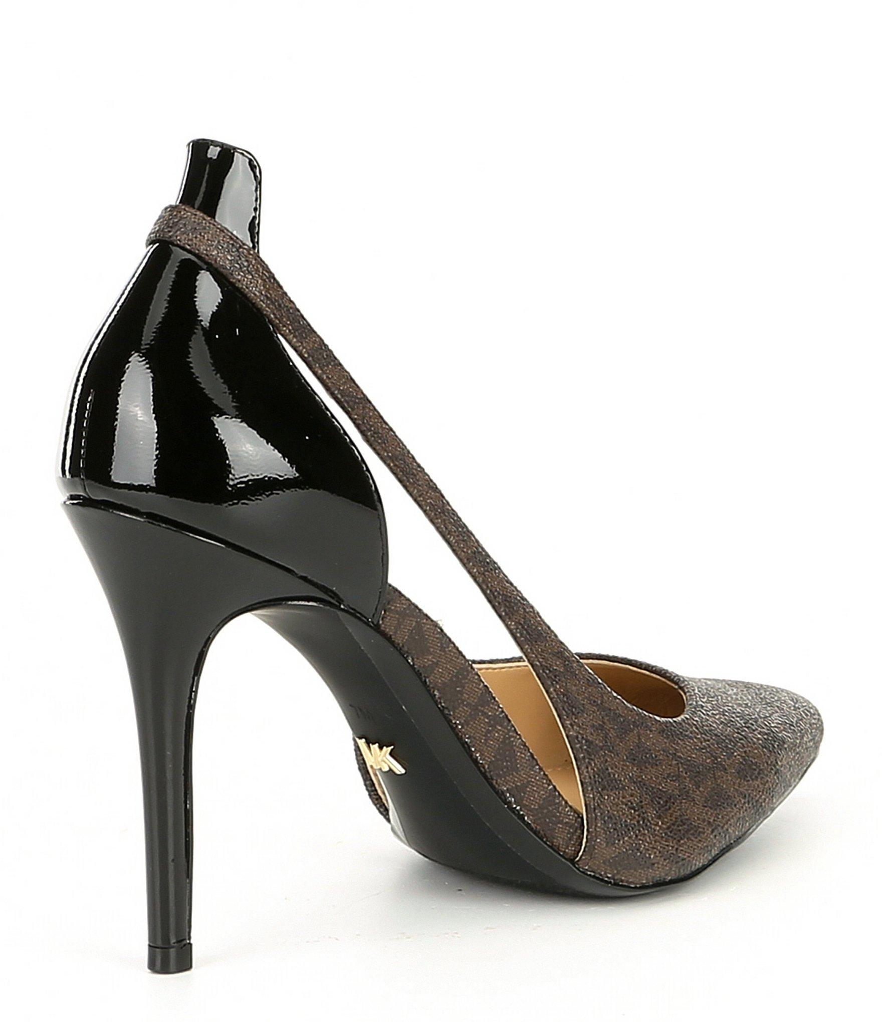 84d995d41904 MICHAEL Michael Kors - Multicolor Cersei Mk Logo Patent Leather Pumps -  Lyst. View fullscreen
