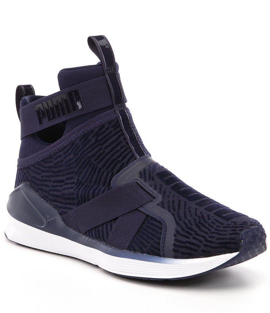 a99f0a16bf6f Lyst - PUMA Fierce Strap Flocking Sneakers in Blue for Men