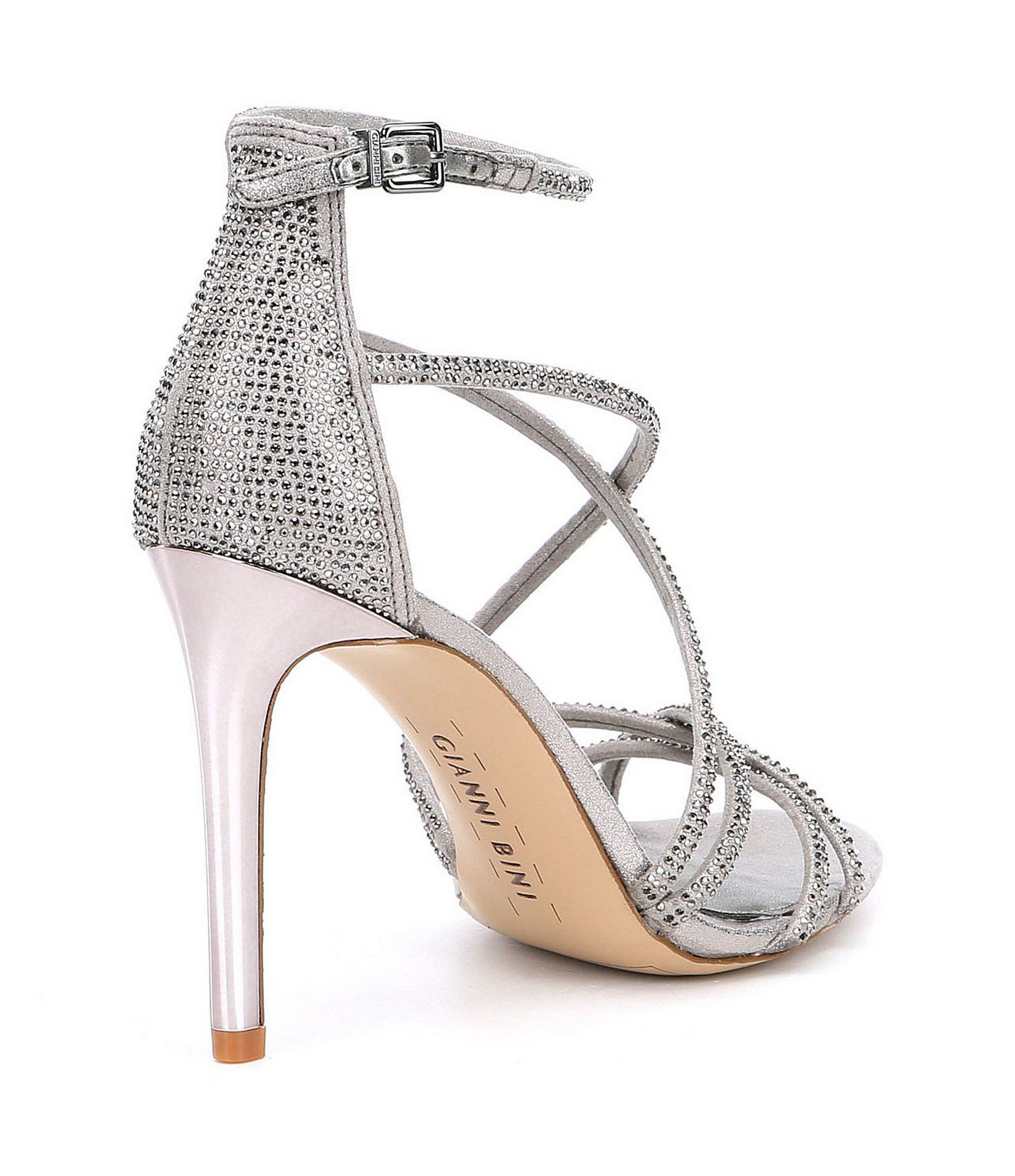 118f8acef75 Gianni Bini - Gray Anselle Strappy Jeweled Dress Sandals - Lyst. View  fullscreen