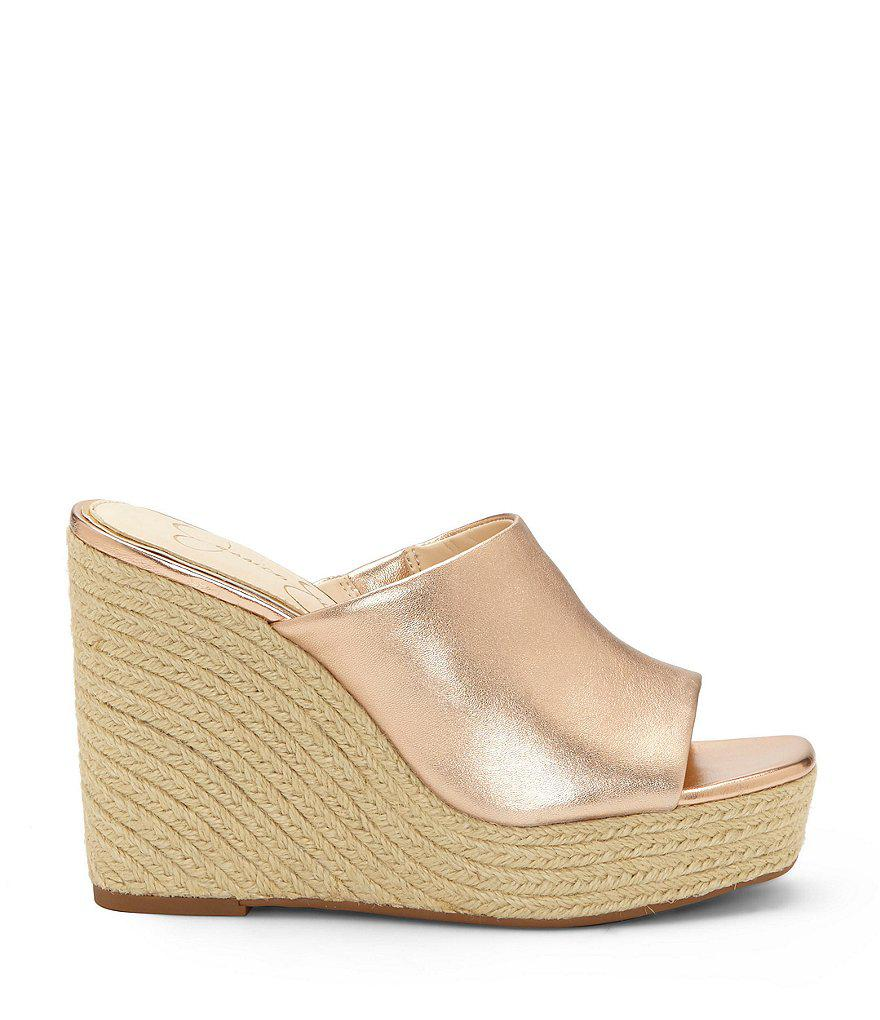 Jessica Simpson Sirella Suede Leather Espadrille Wedges kzD7BAQhHW