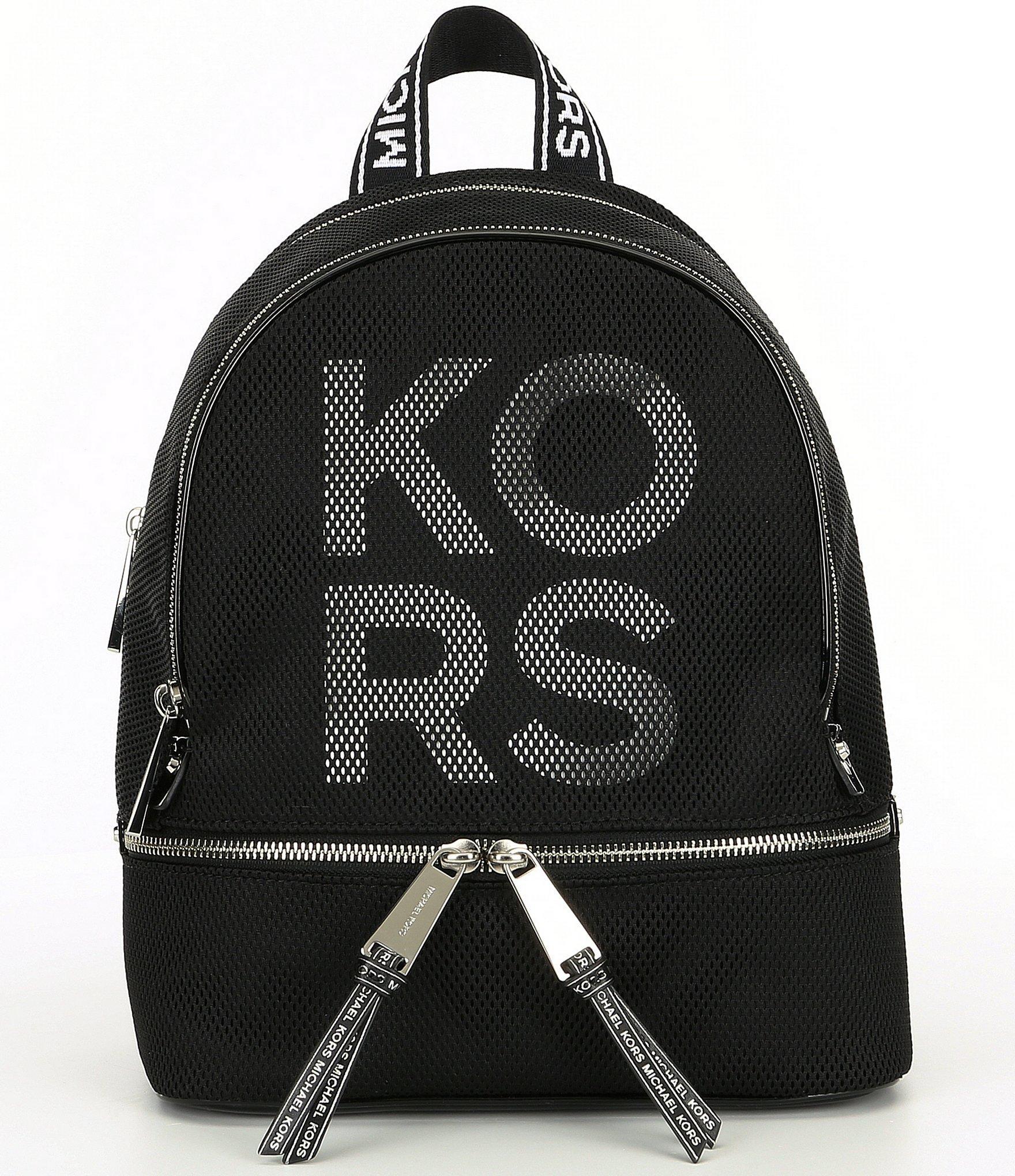 09dc37ada3 Lyst - MICHAEL Michael Kors Rhea Colorblock Medium Zip Backpack in Black