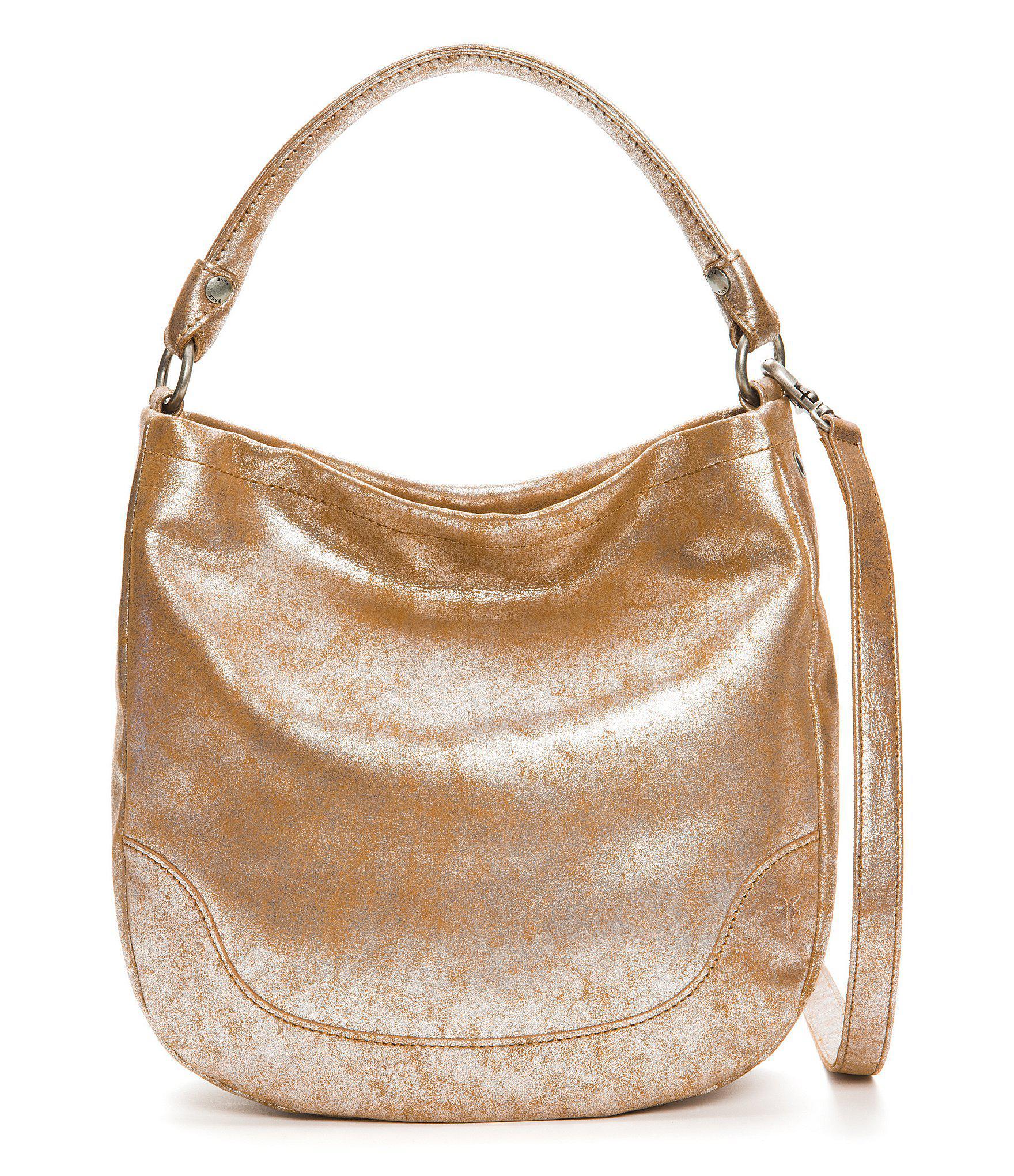 849c3aadf3 Lyst - Frye Melissa Metallic Hobo Bag in Metallic