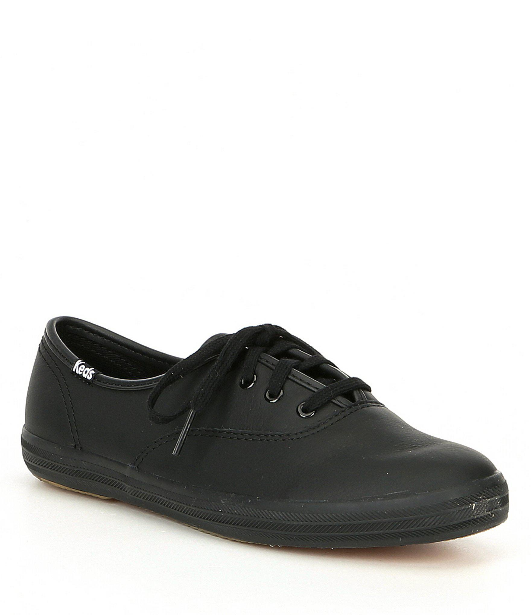 d3e781eff39fca Lyst - Keds Women s Champion Leather Oxford Sneakers in Black