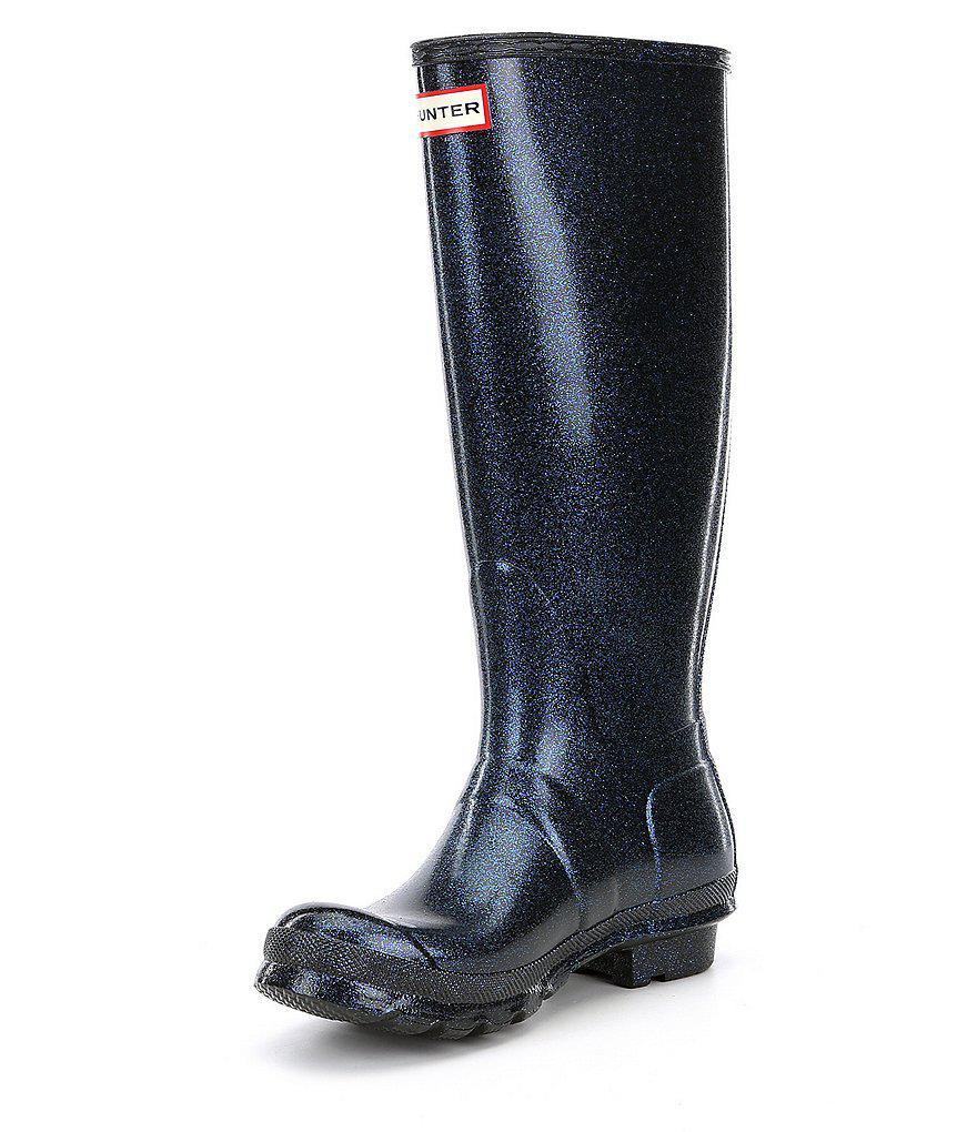 Women's Original Starcloud Buckle Detail Tall Glitter Rain Boots CTPKtNh6d1